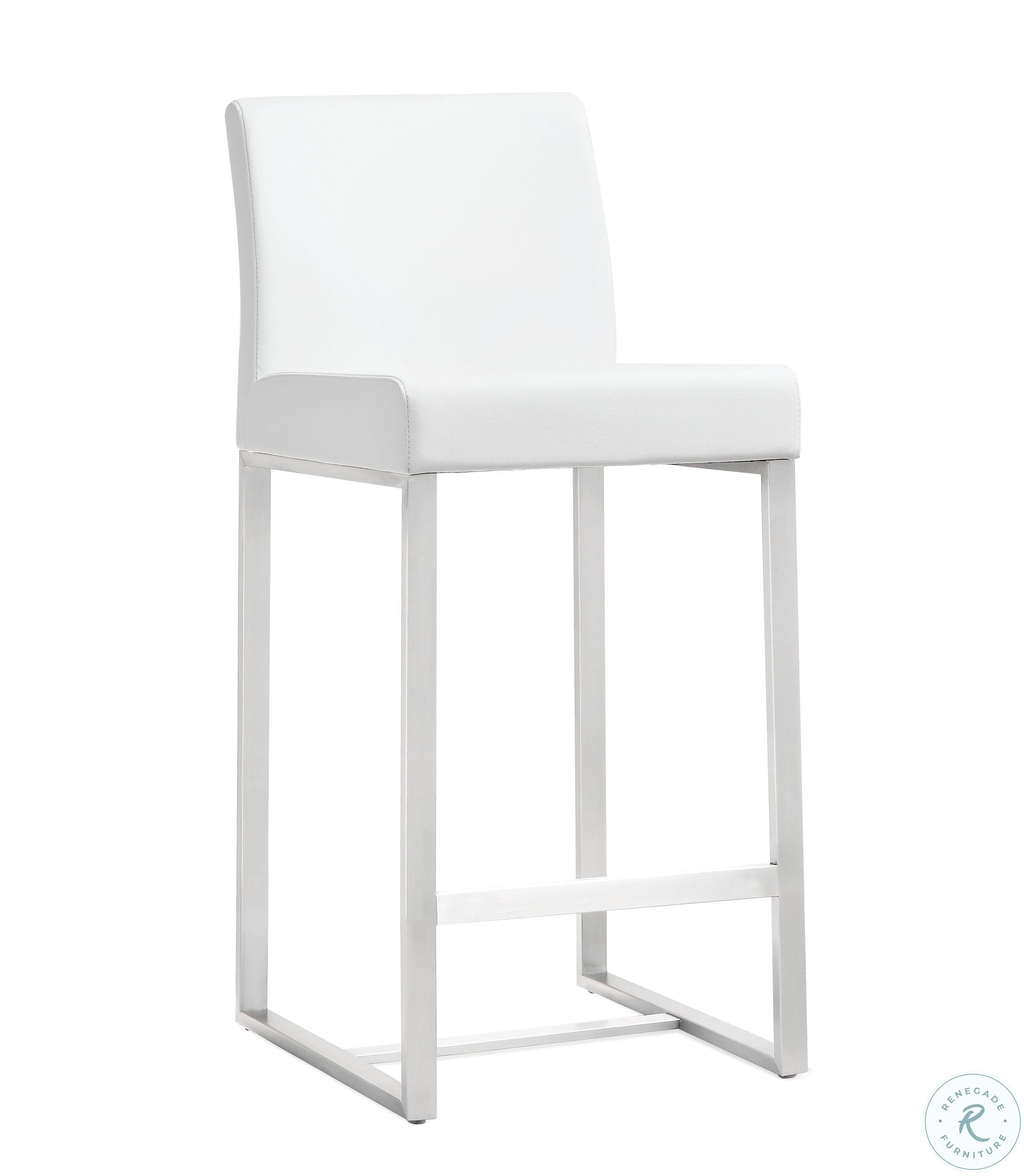 Peachy Denmark White Stainless Steel Counter Stool Set Of 2 Caraccident5 Cool Chair Designs And Ideas Caraccident5Info