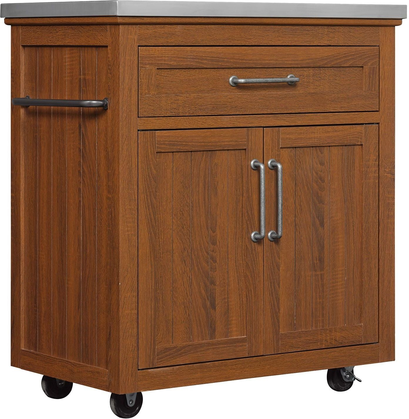 Bell O Embossing Oak Madeleine Kitchen Cart from Twin Star International