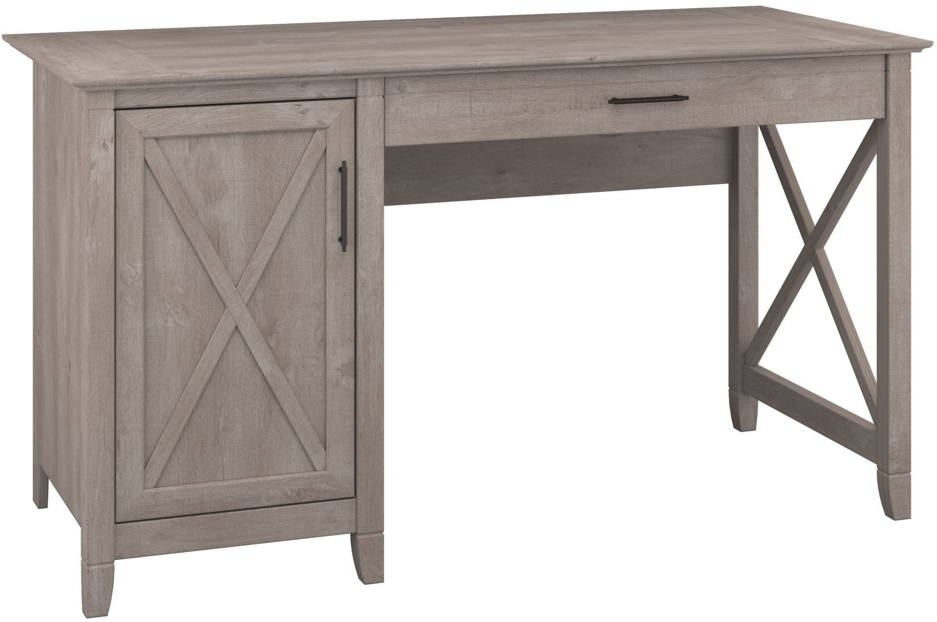 Key West Washed Gray 54 Quot Single Pedestal Desk From Bush