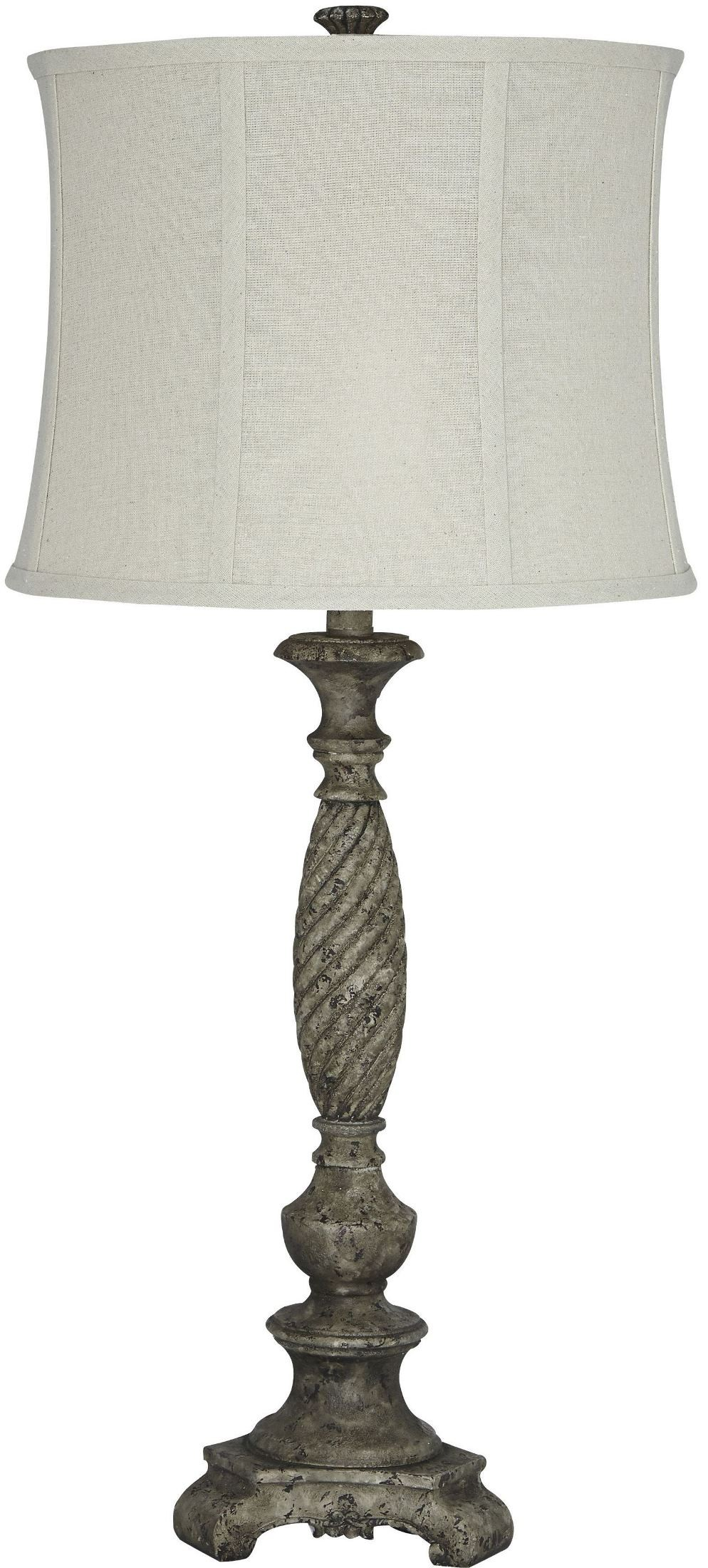 Antique Table Lamps Catalogs : Alinae antique gray poly table lamp from ashley coleman