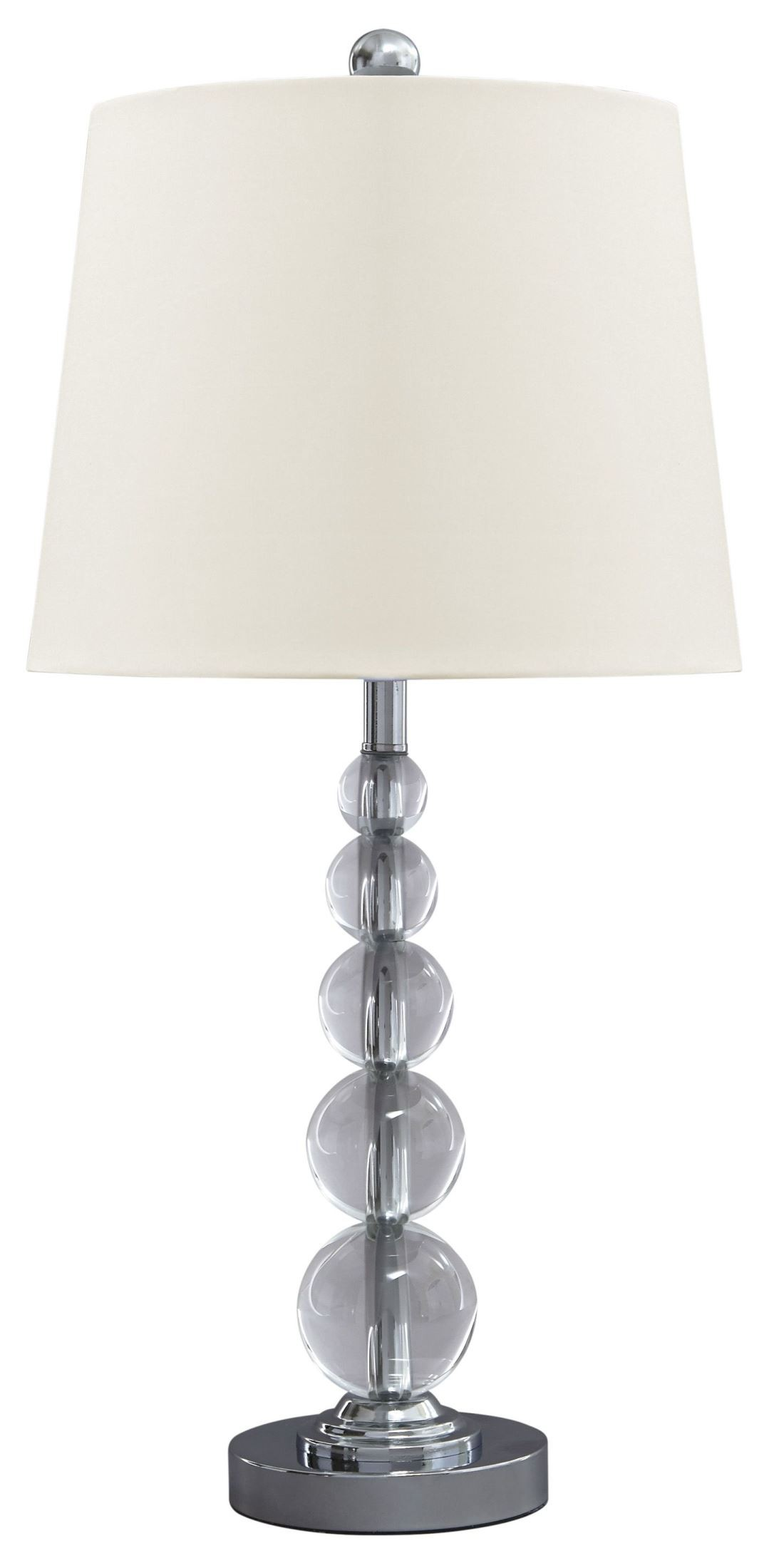 Joaquin Clear And Silver Crystal Table Lamp Set Of 2 From Ashley