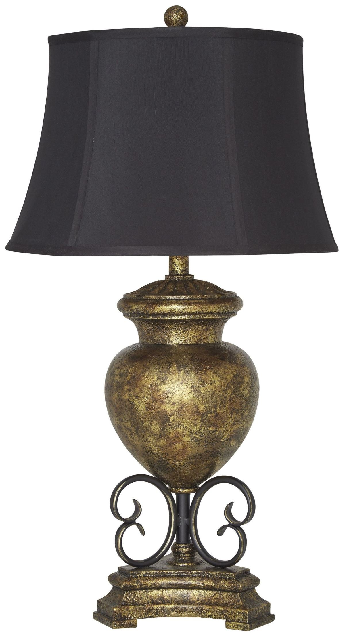 Archwood Black and Gold Poly Table Lamp, L511954, Ashley