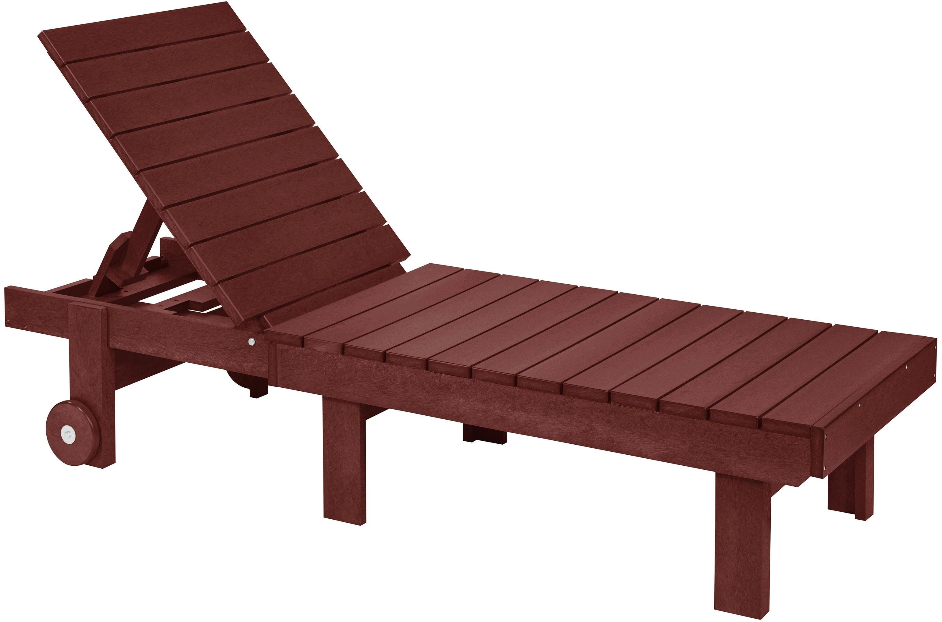Generation burgundy chaise lounge with wheels from cr for Burgundy chaise lounge