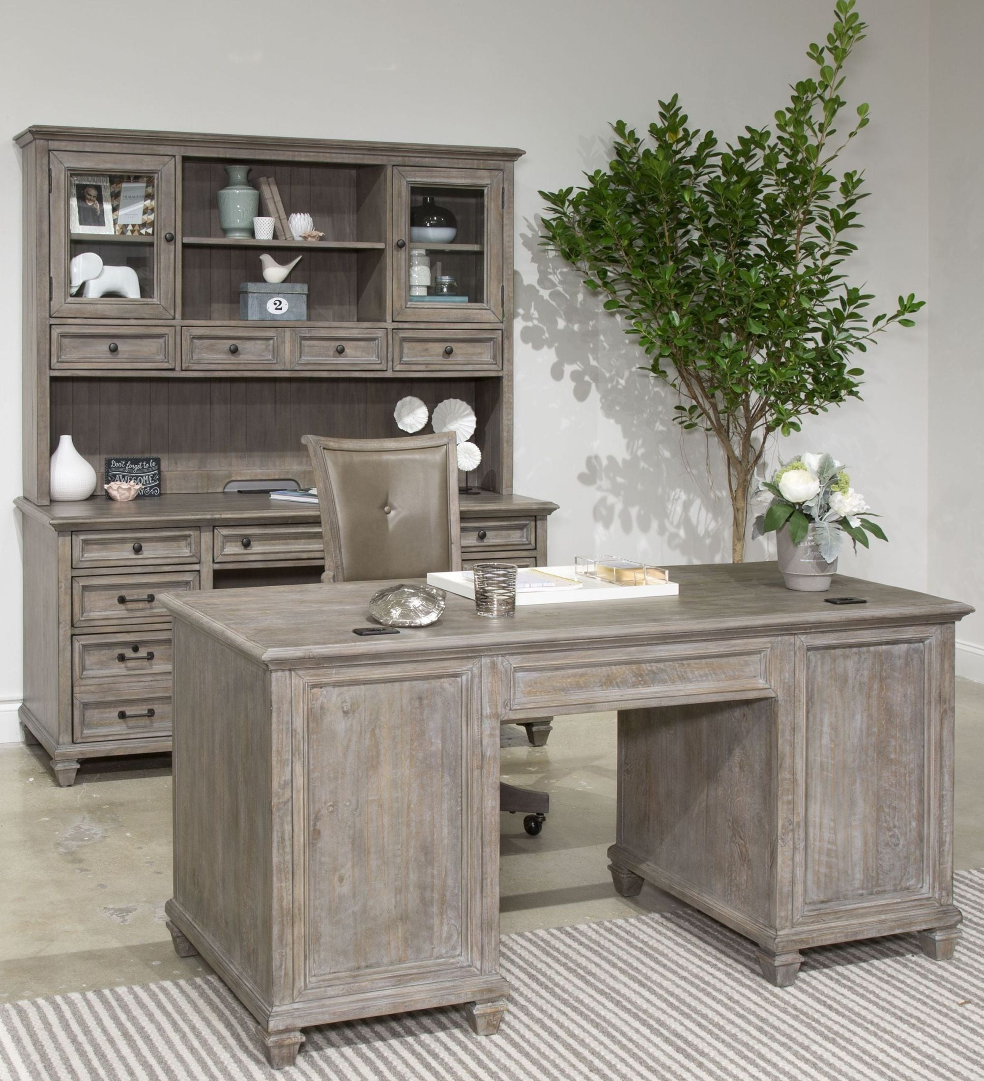 lancaster dove tail grey executive home office set from