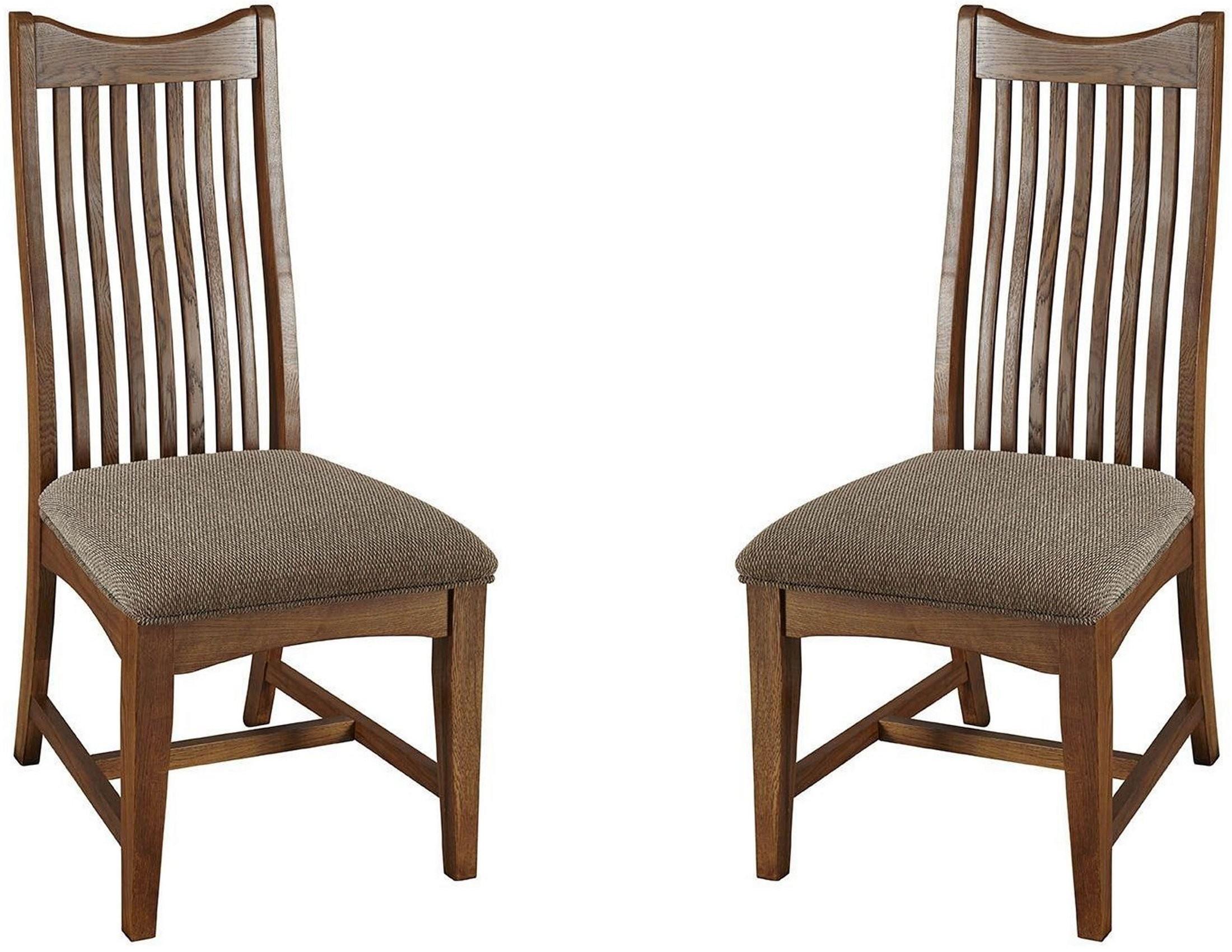 Laurelhurst mission oak slatback side chair set of 2 from for Laurelhurst dining set