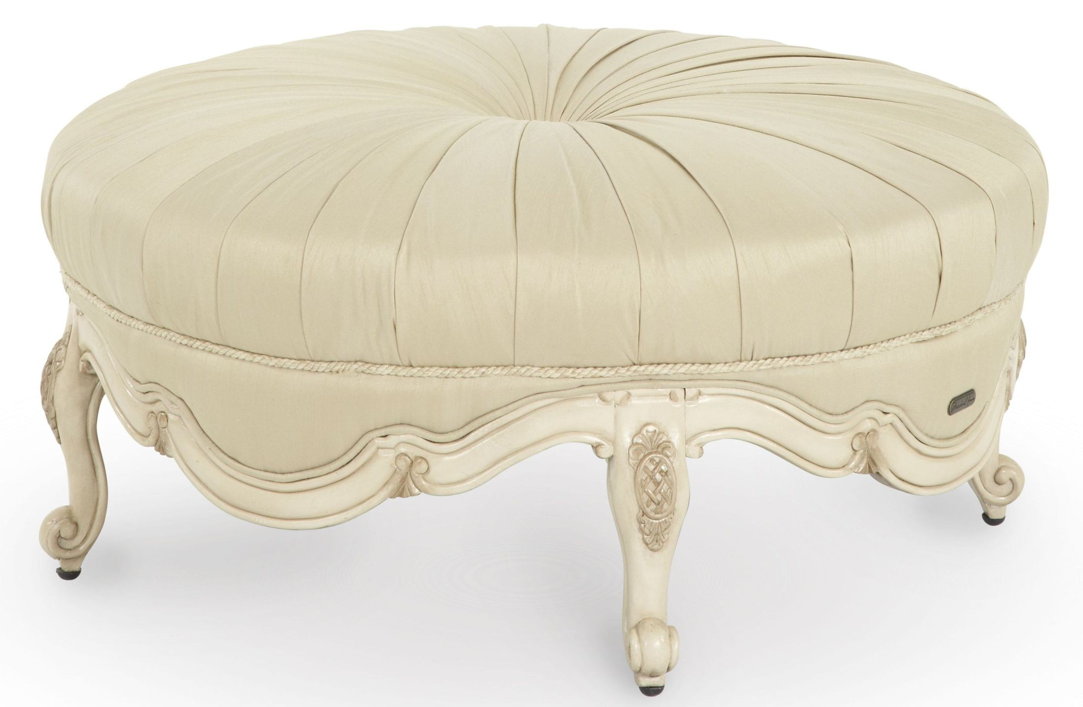 lavelle blanc cocktail ottoman from aico 54879 04 coleman furniture. Black Bedroom Furniture Sets. Home Design Ideas