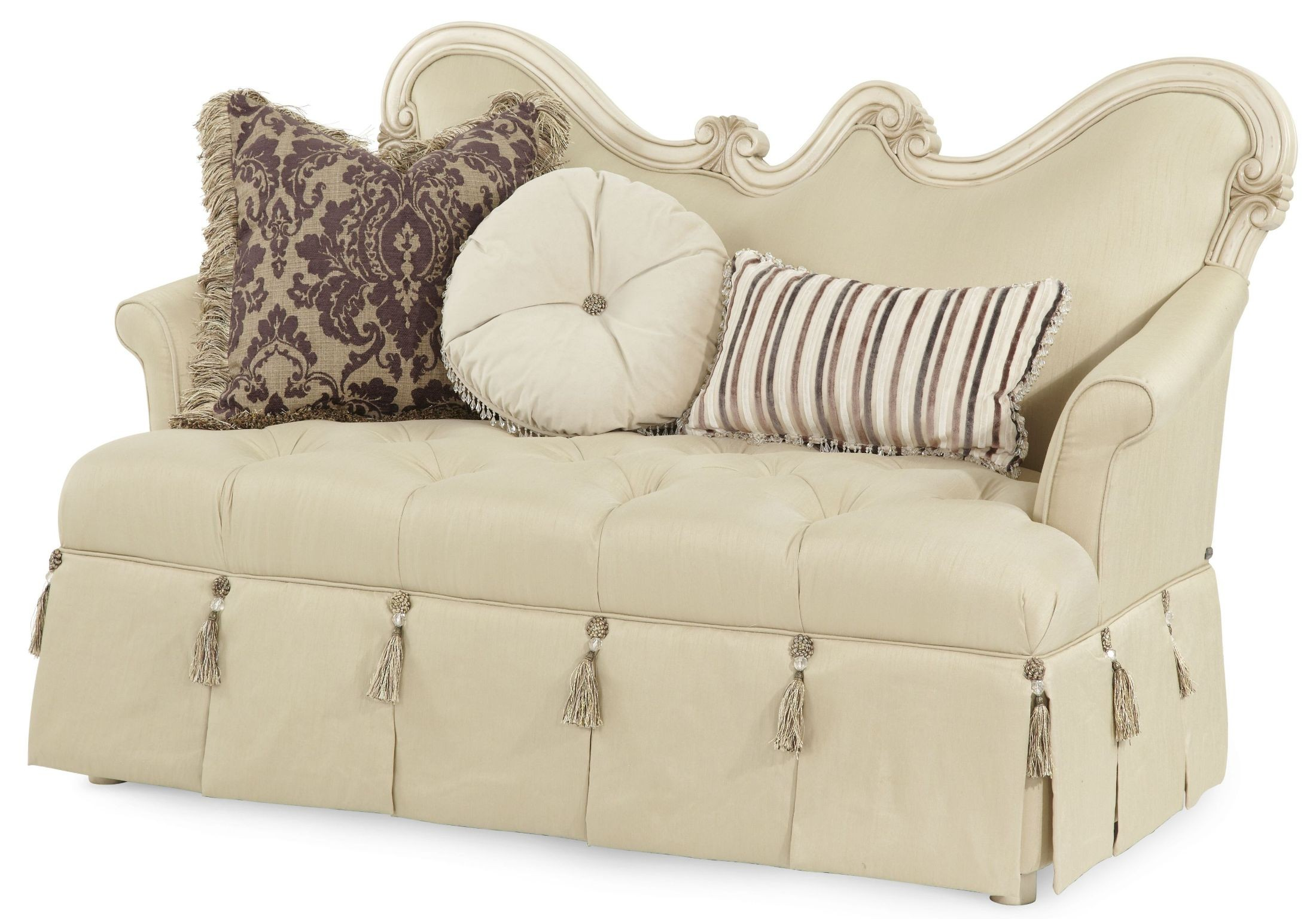 Lavelle Blanc Wood Trim Sattee from Aico (54864-04) | Coleman Furniture