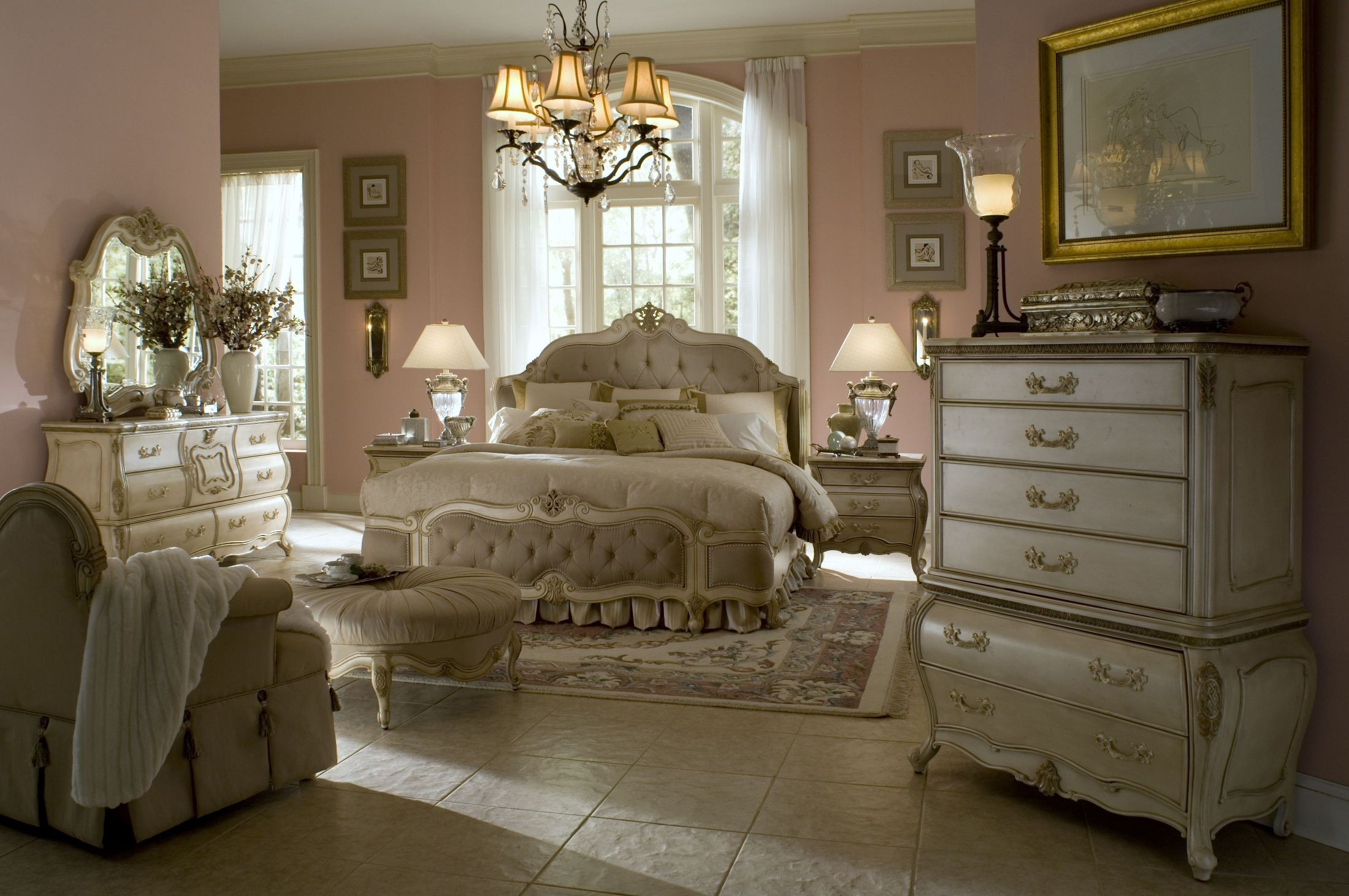 Lavelle Blanc Mansion Bedroom Set From Aico 54071