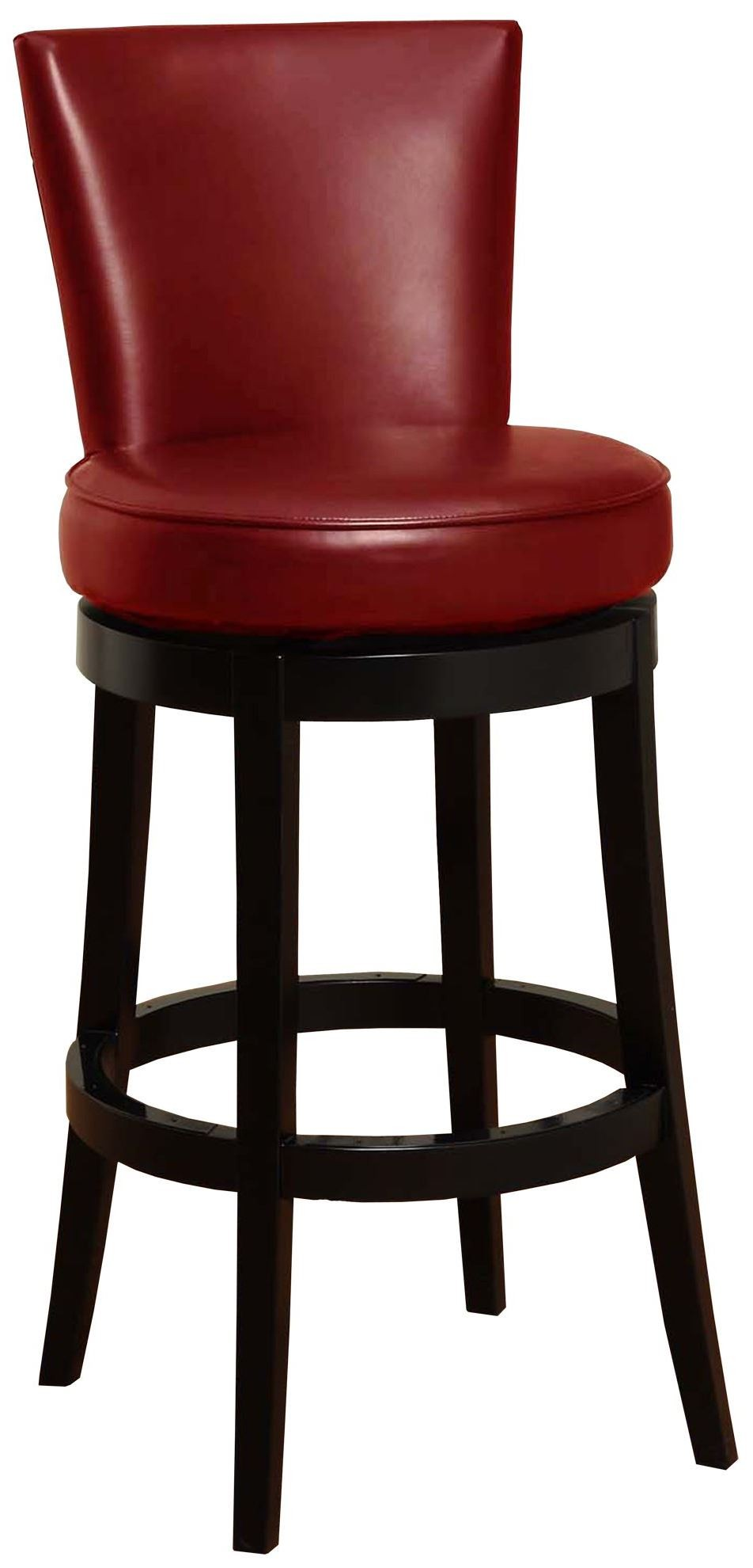 Boston 26 Red Bonded Leather Swivel Barstool From Armen