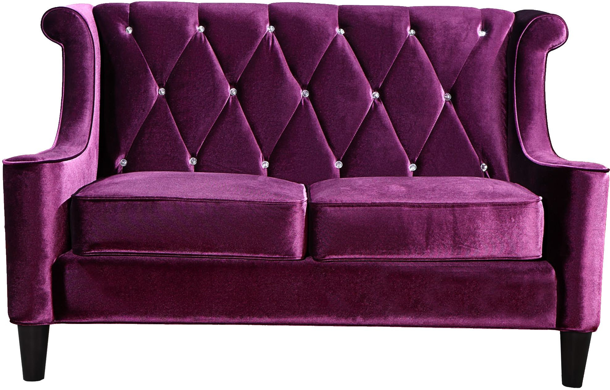 Barrister Purple Velvet Loveseat From Armen Living Coleman Furniture