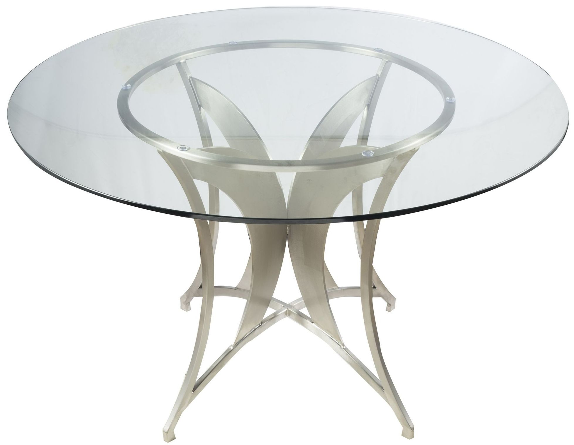 Drake Clear Glass Dining Table From Armen Living Coleman Furniture