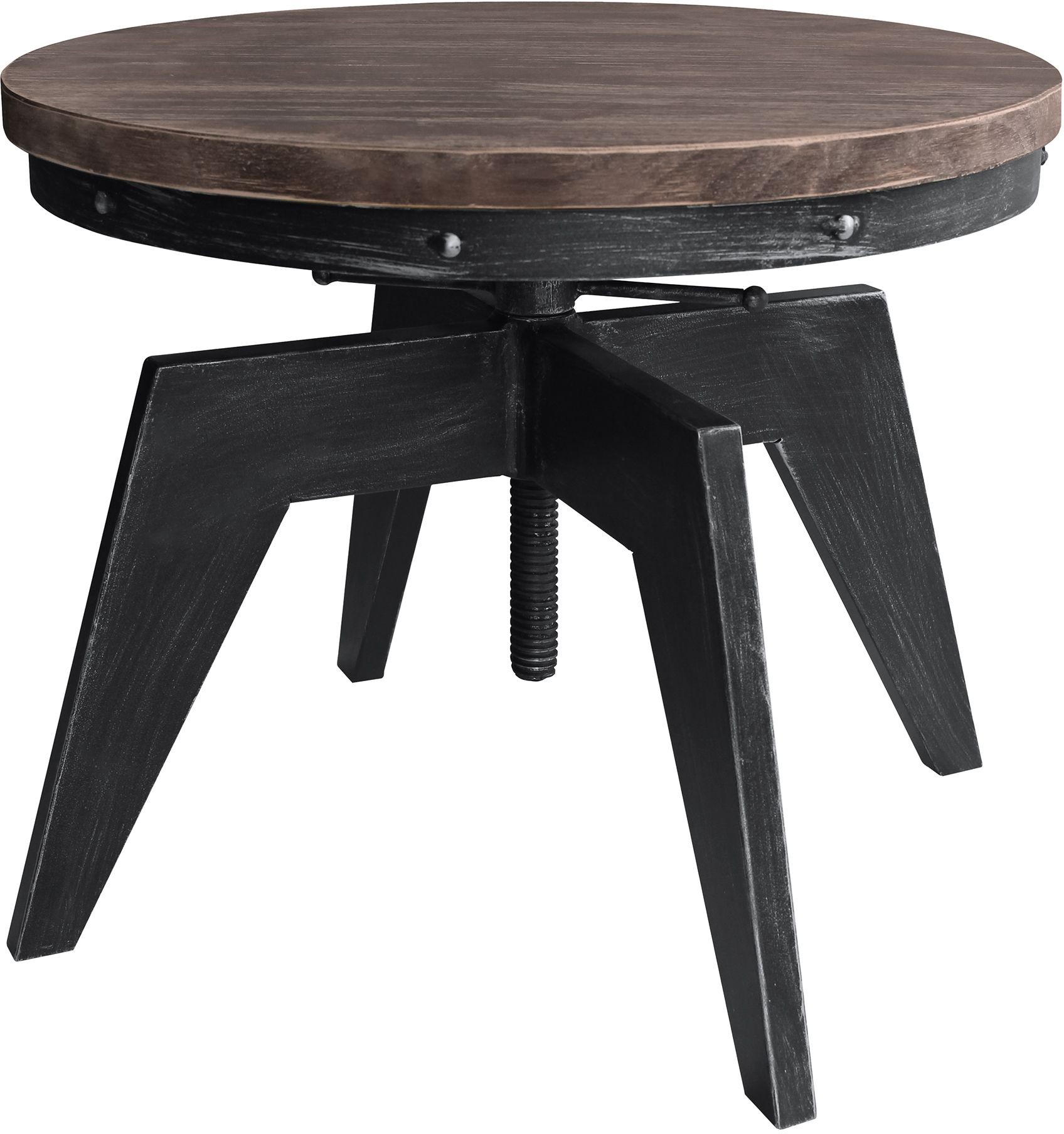 Industrial Grey Driftwood Open Coffee Table: Dayton Industrial Grey Coffee Table From Armen Living