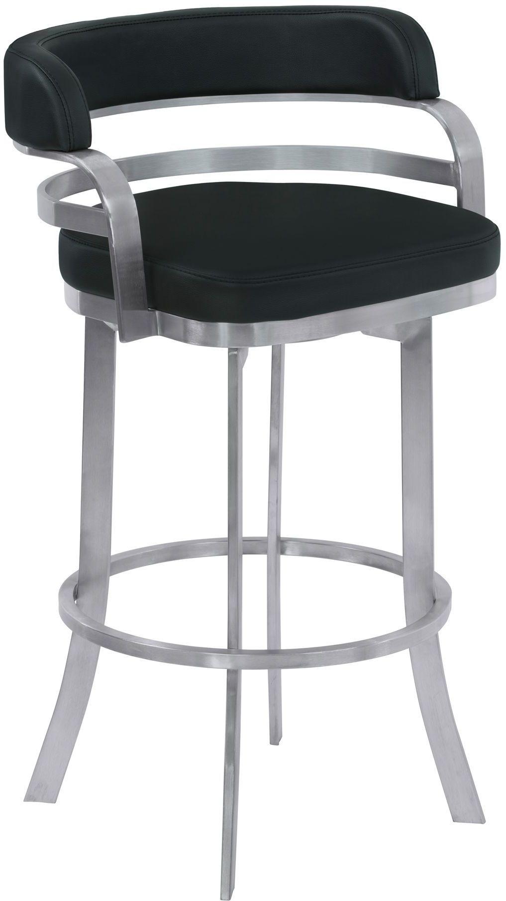 Prinz Black 30 Quot Bar Height Metal Swivel Barstool Set Of 2