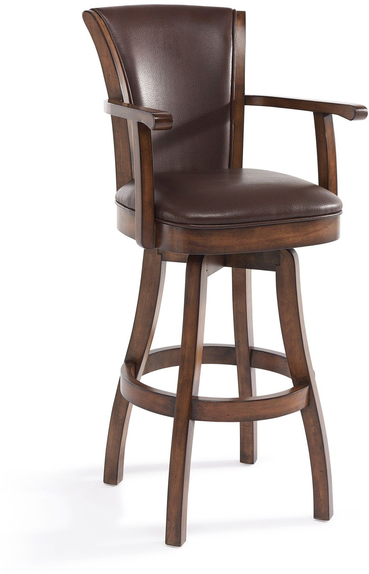 Raleigh Arm Chestnut 30 Quot Bar Height Swivel Wood Barstool