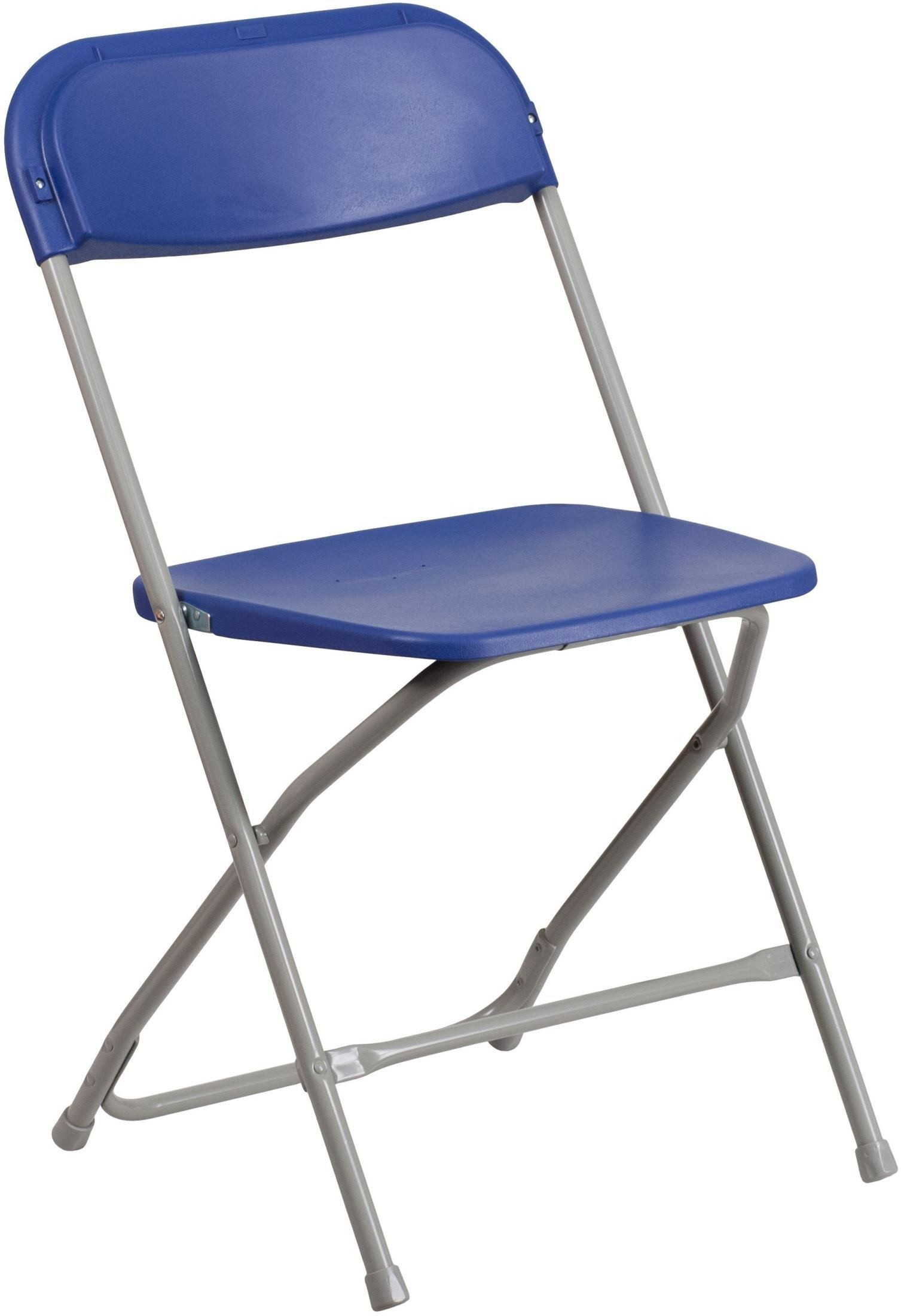 HERCULES Series Premium Blue Plastic Folding Chair from Renegade