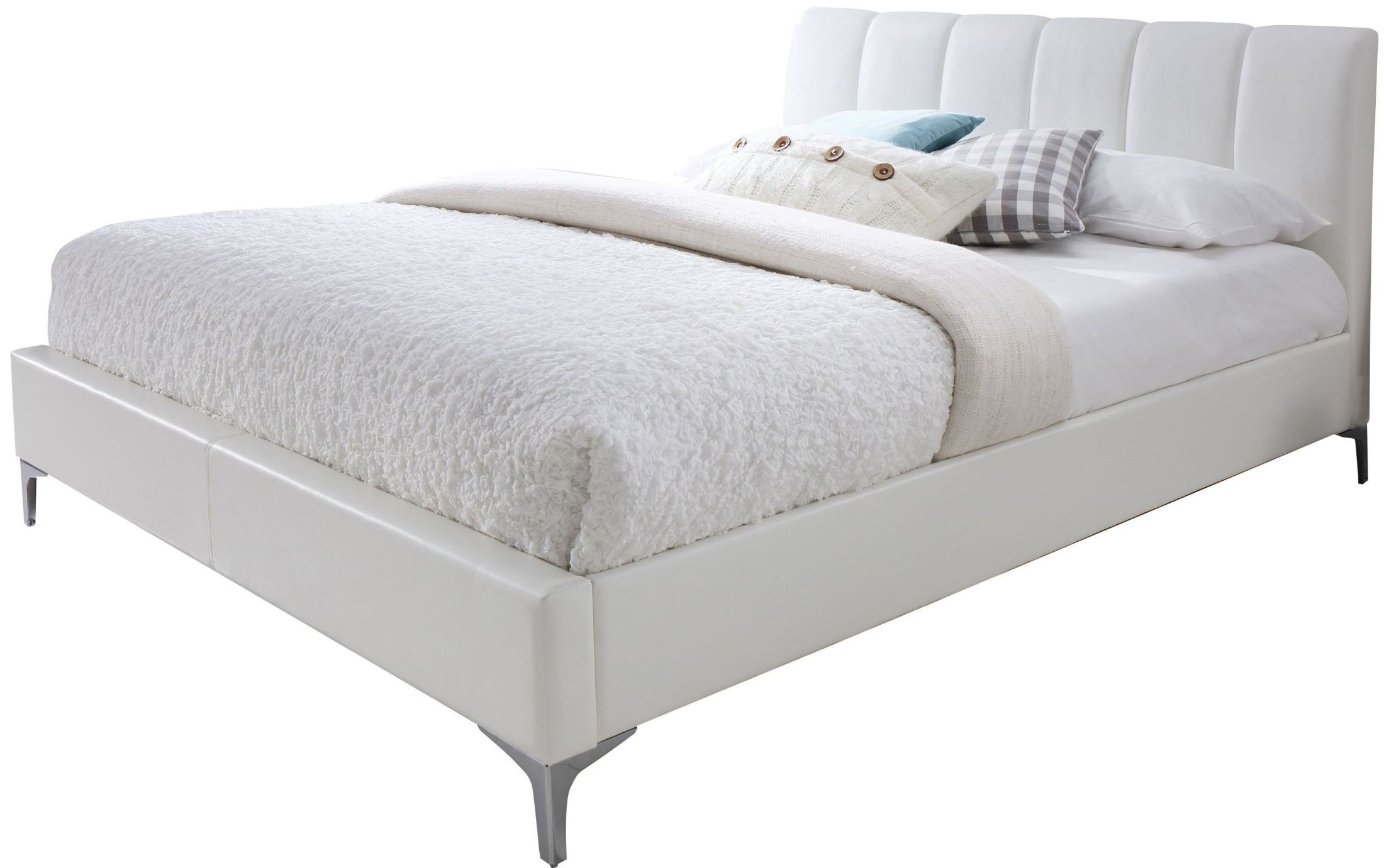 Leona white queen platform bed from jnm coleman furniture - White queen platform bedroom set ...