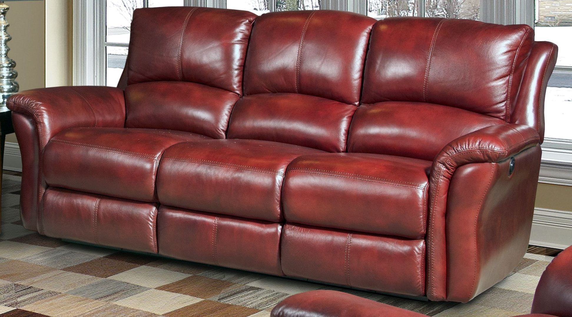 Lewis Lipstick Dual Power Reclining Sofa From Parker