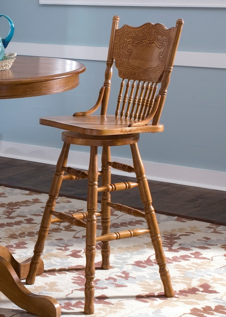 Nostalgia 30 Inch Press Back Barstool From Liberty 10