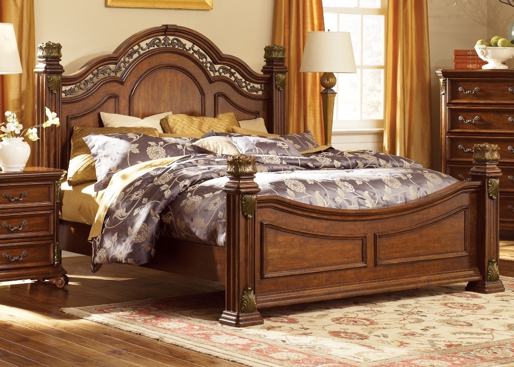 messina estates king poster bed from liberty 737brkps