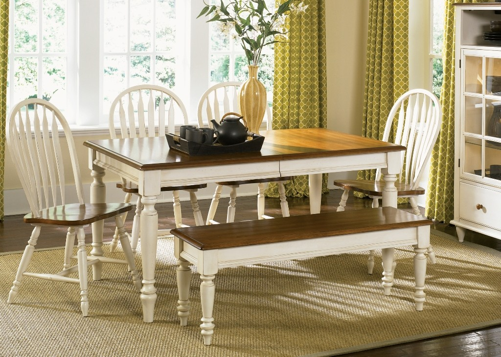 Low country sand dining room set from liberty 79 t3876 for Country style dining room