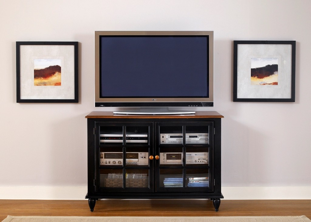 Low Country Black TV Stand From Liberty 80 TV46