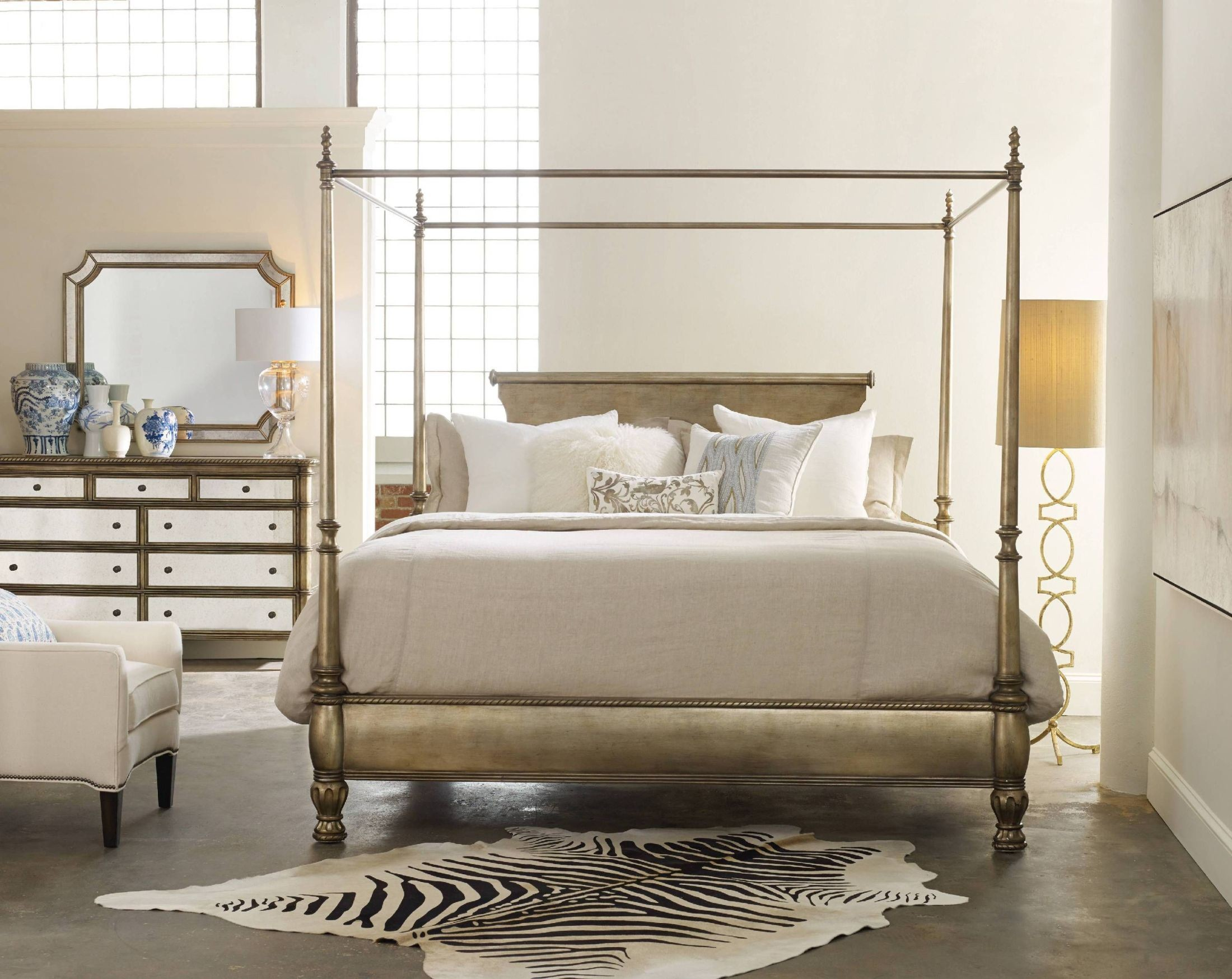 montage gold king canopy bed - King Canopy Bed Frame