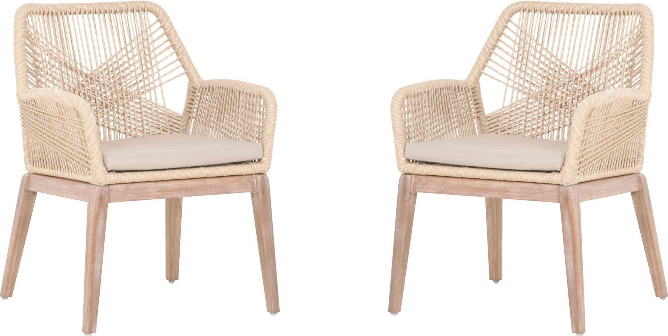 H Furniture Loom Chair Of Loom Sand Arm Chair Set Of 2 From Orient Express Coleman
