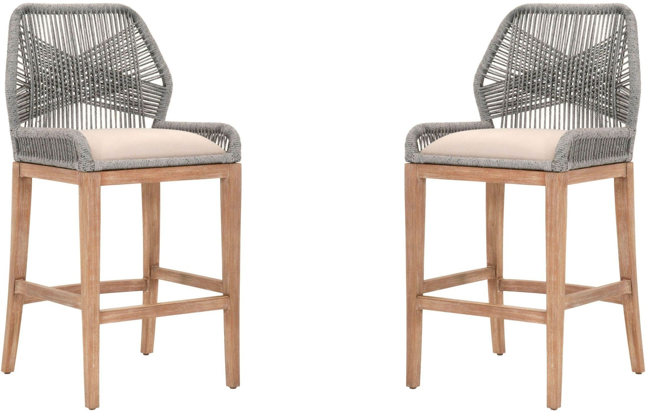 Loom Platinum Barstool Set Of 2 From Orient Express