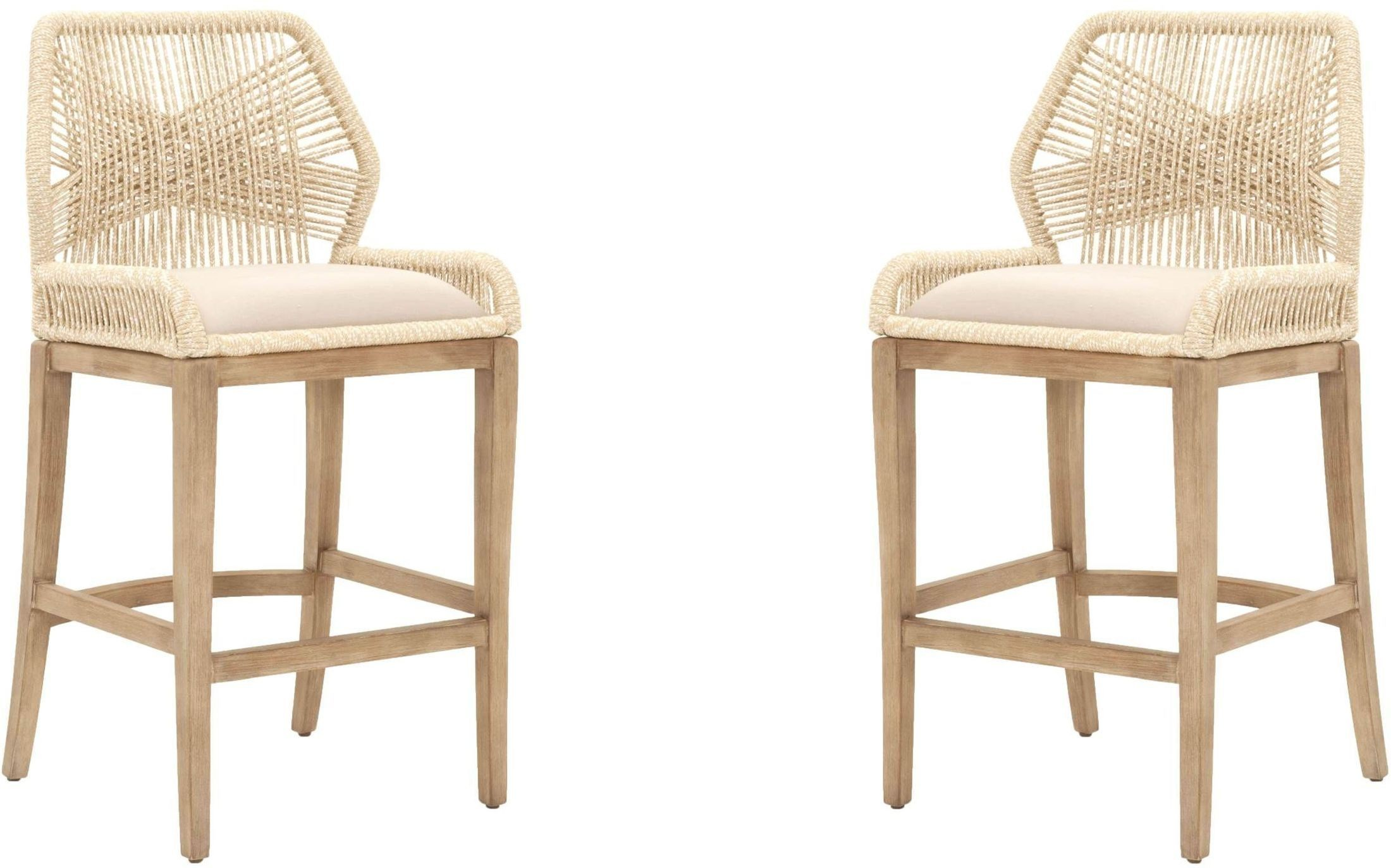 Loom Sand Barstool Set Of 2 From Orient Express Coleman