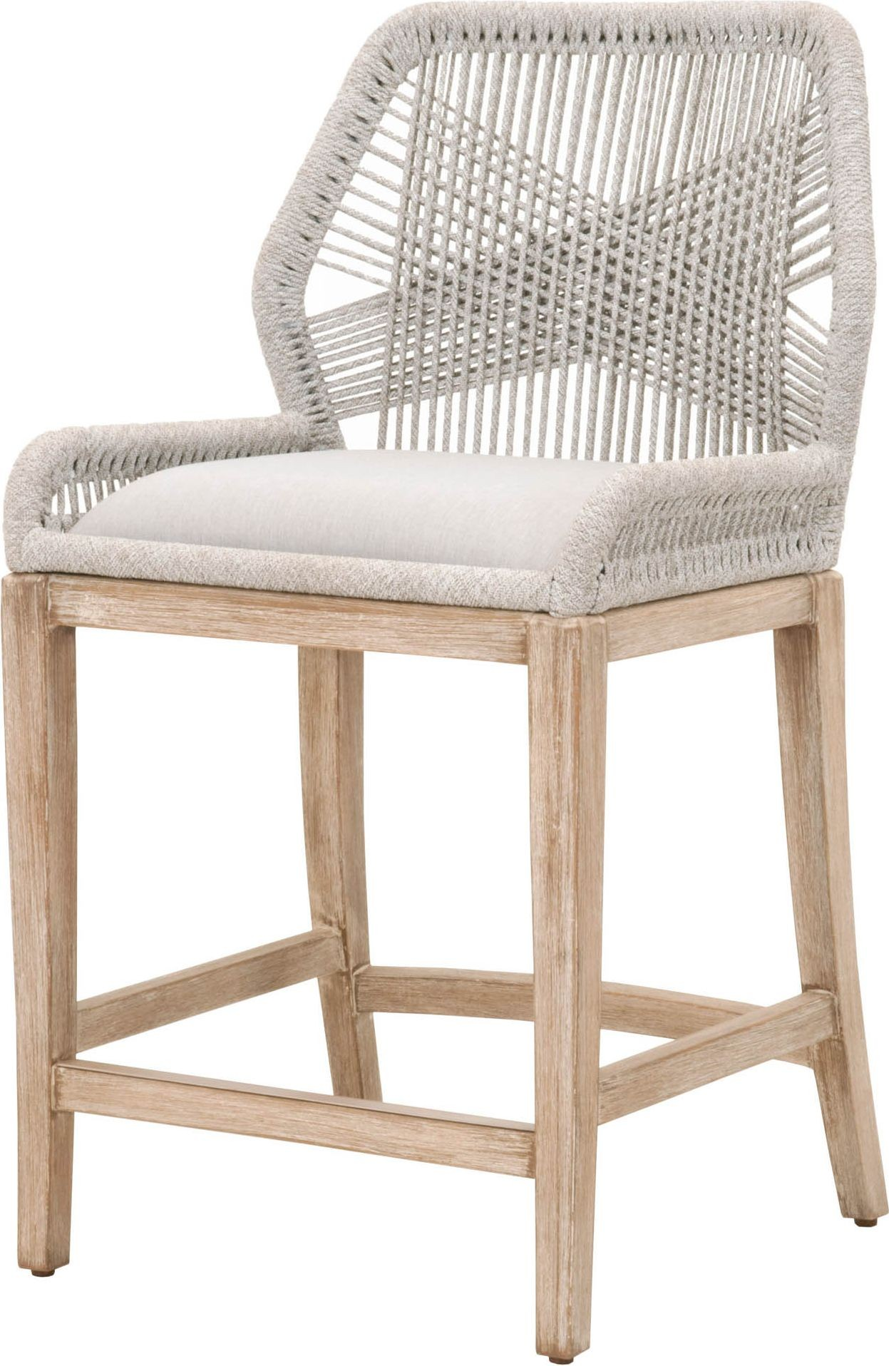 Wicker Natural Gray Loom Counter Stool From Orient Express