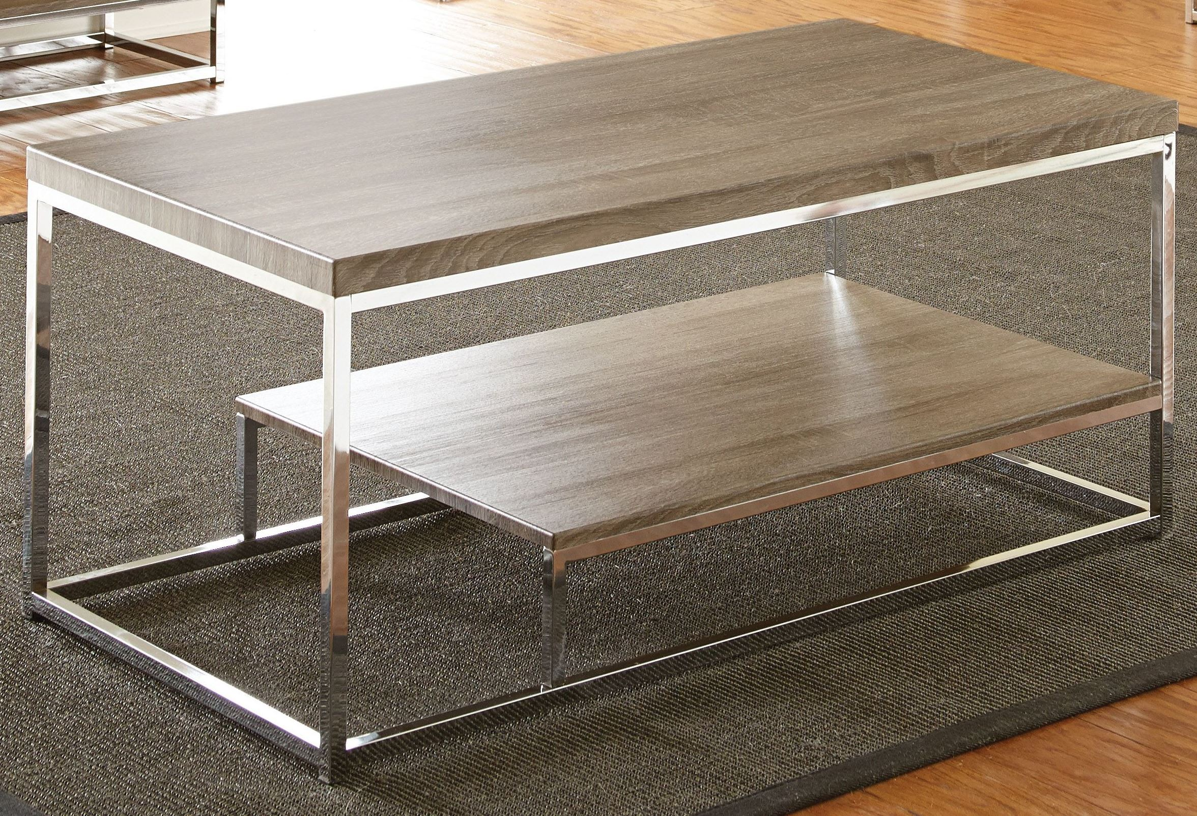 Lucia Gray And Brown Cocktail Table From Steve Silver