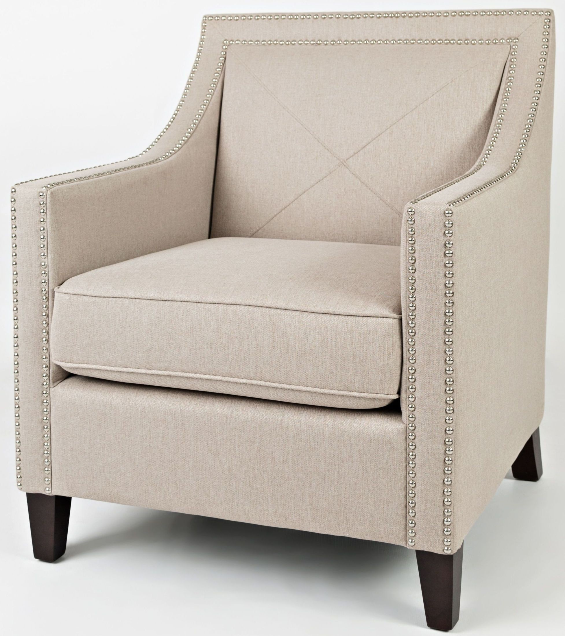 Delightful Easy Living Luca Taupe Accent Chair
