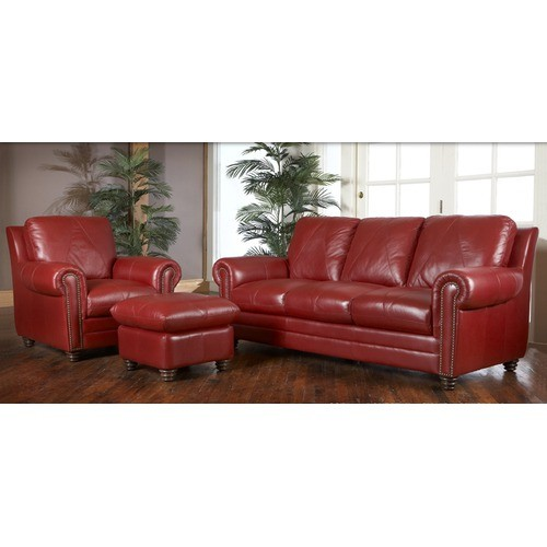 Italian Leather Furniture Nyc: Weston Italian Leather Living Room Set From Luke Leather (WESTON)