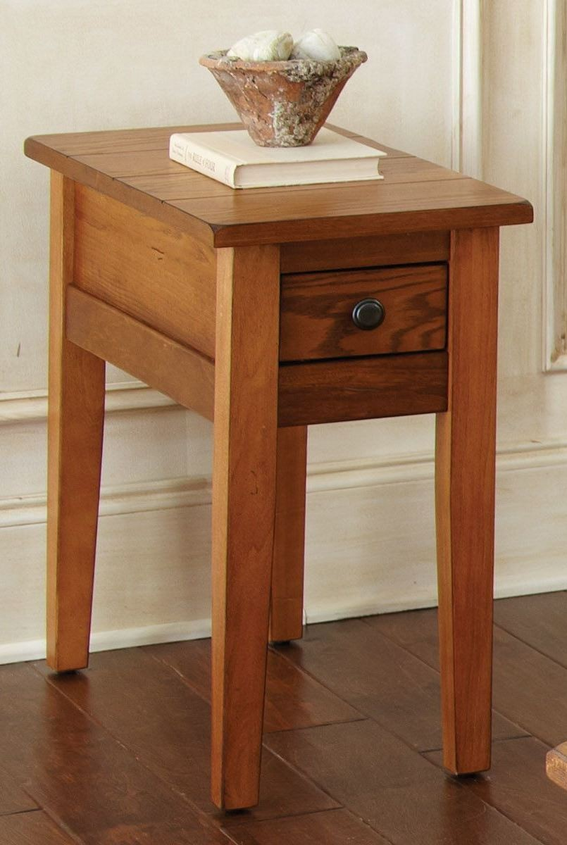 liberty golden oak chairside end table