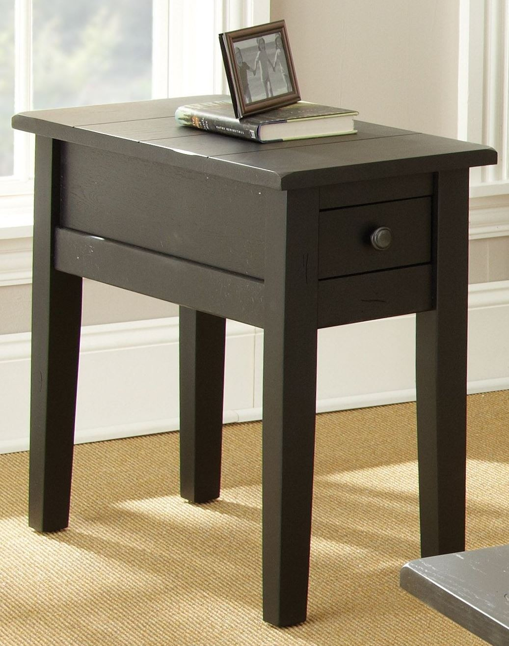 Liberty Antique Black Chairside End Table From Steve