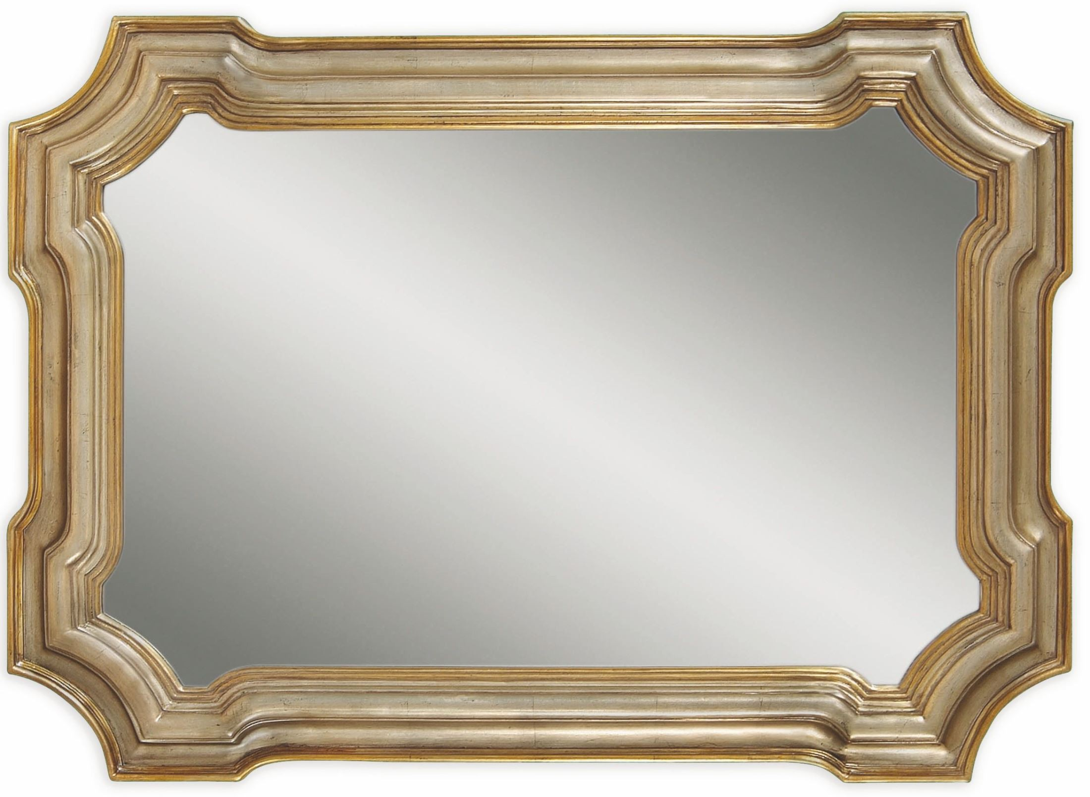 Gold Metal Wall Mirror: Angelica Silver And Gold Wall Mirror From Bassett Mirror