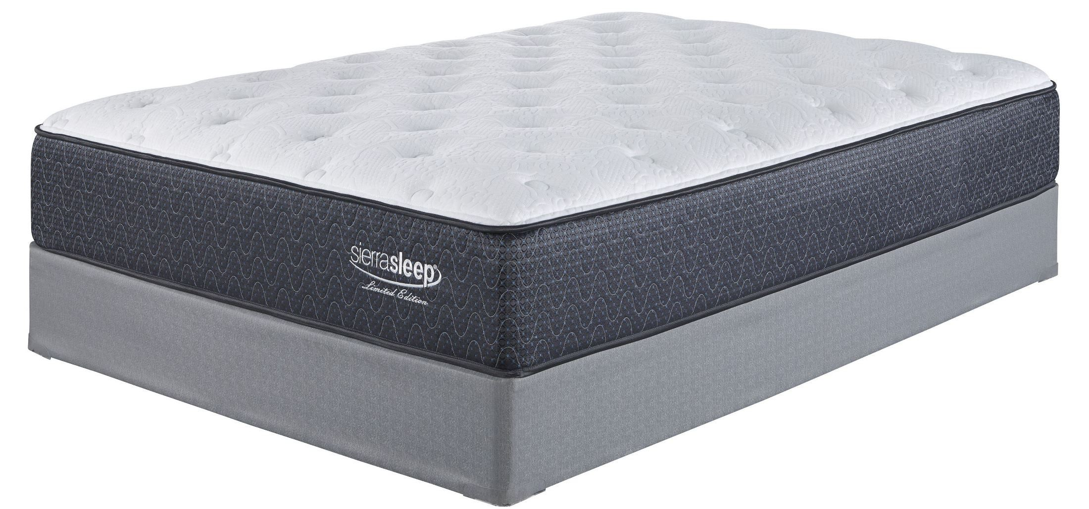 White Full Plush Mattress With Foundation From Ashley Coleman Furniture