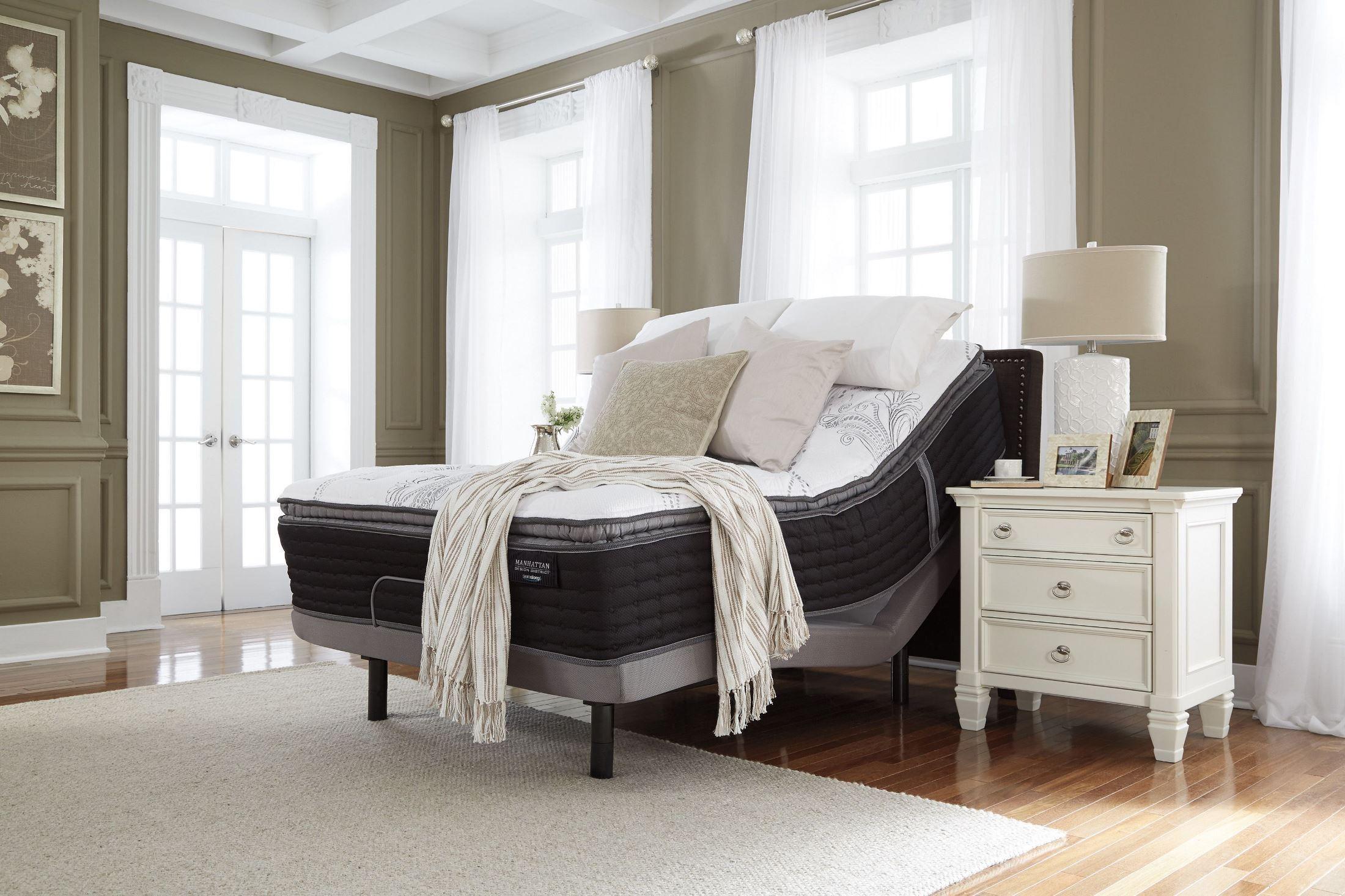 Manhattan Design District Firm Pillow Top White Queen