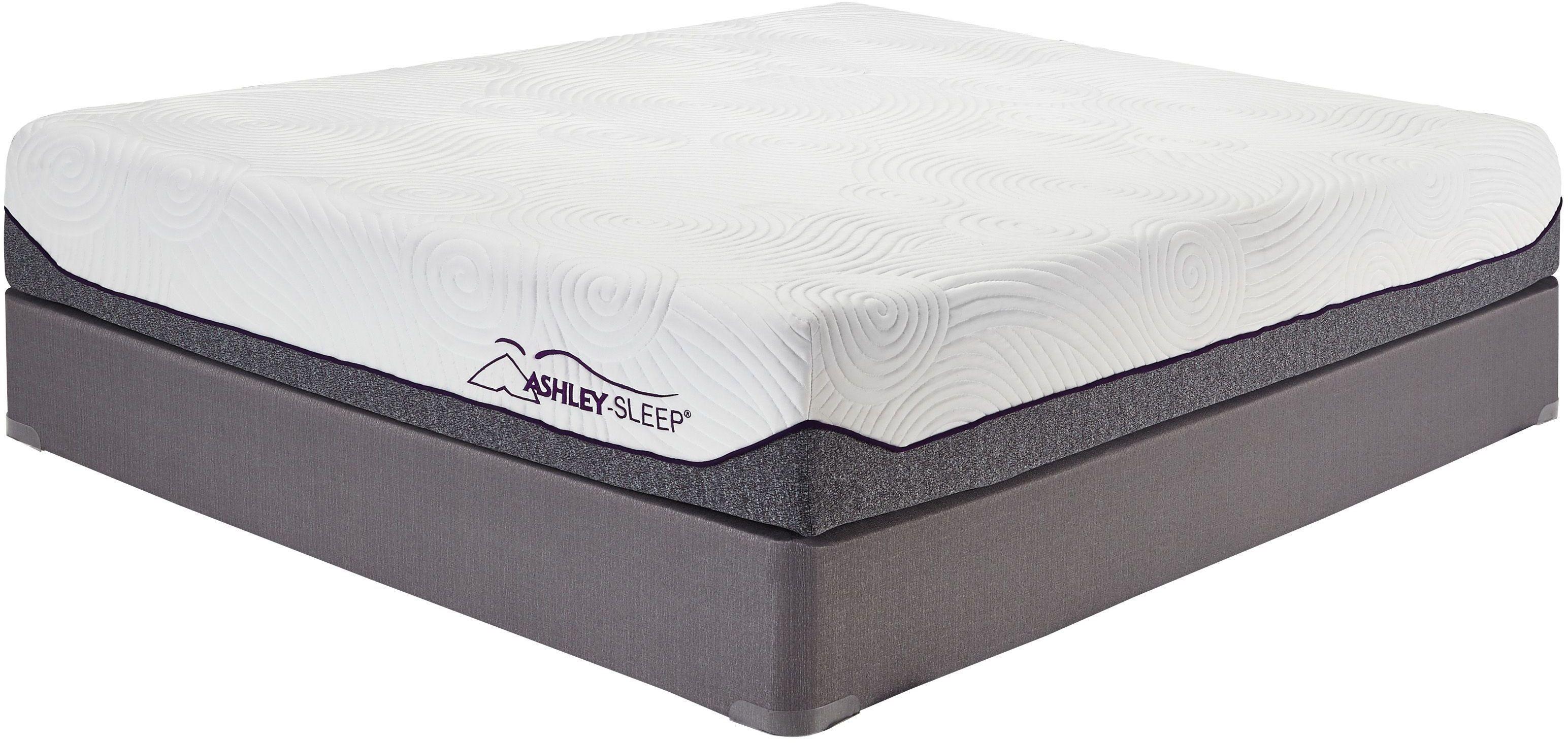10 Inch Memory Foam White Twin Mattress, M94511, Ashley