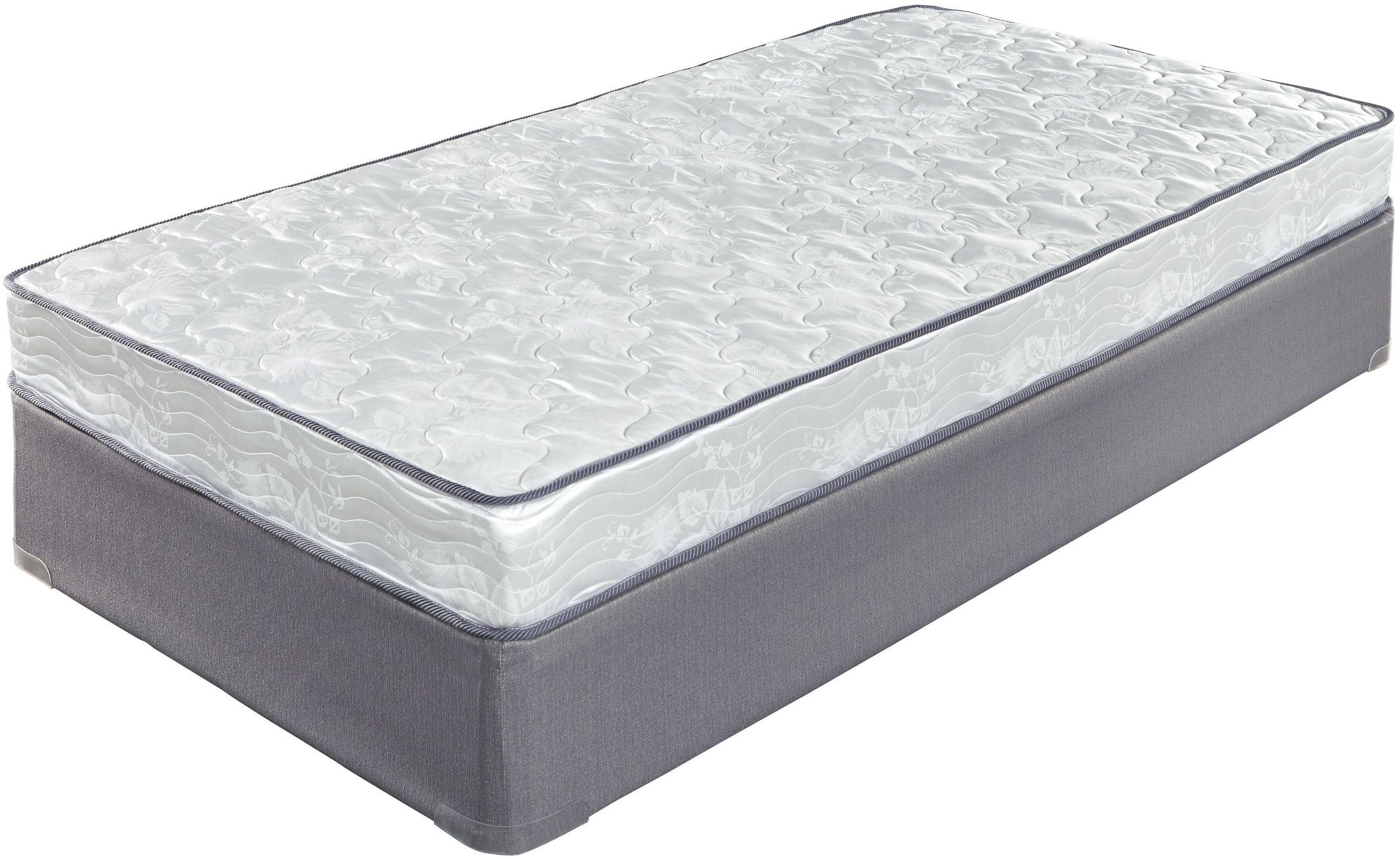 6 Inch Bonell White Twin Mattress With Foundation From Ashley Coleman Furniture
