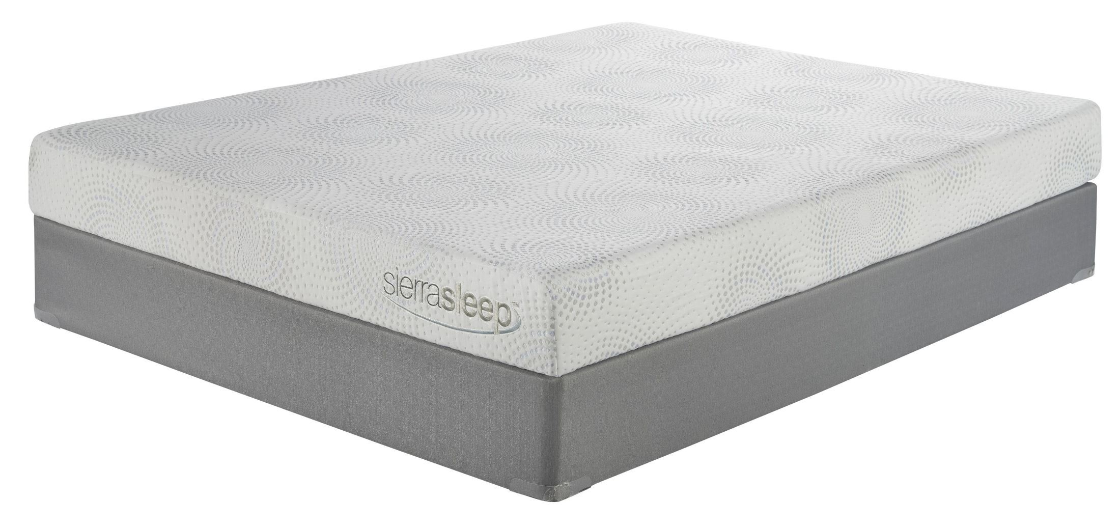7 inch gel memory foam white king mattress with foundation from ashley coleman furniture. Black Bedroom Furniture Sets. Home Design Ideas