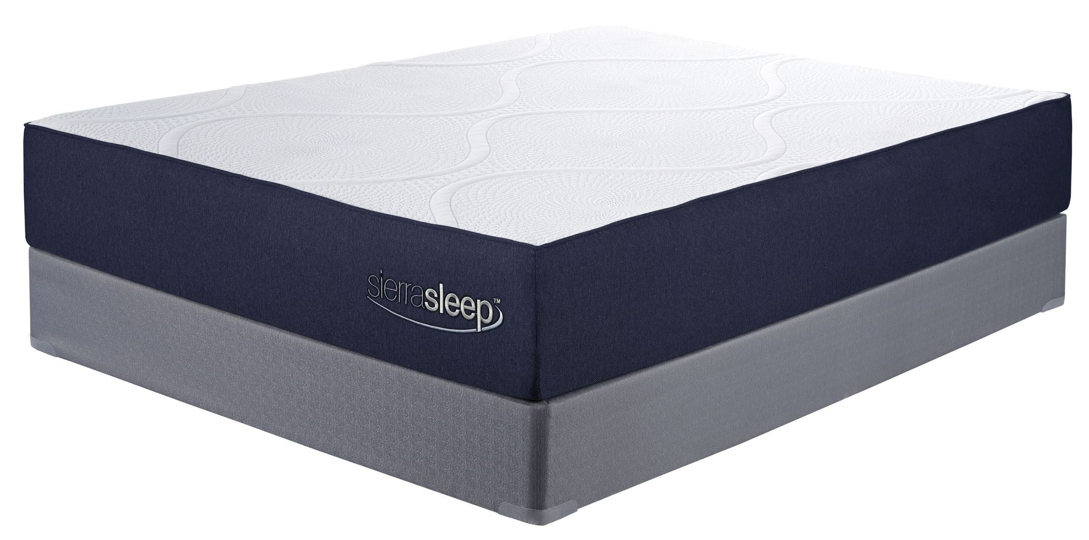 11 inch gel memory foam white king mattress with foundation m97341 m81x42 2 ashley. Black Bedroom Furniture Sets. Home Design Ideas