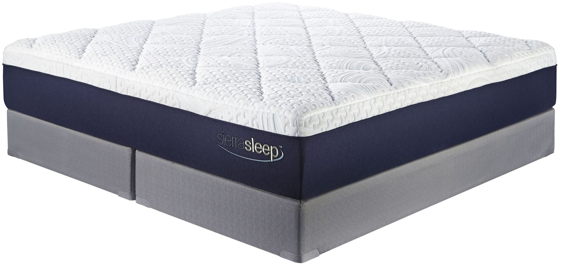 13 inch gel memory foam white cal king mattress from ashley m97451 coleman furniture. Black Bedroom Furniture Sets. Home Design Ideas