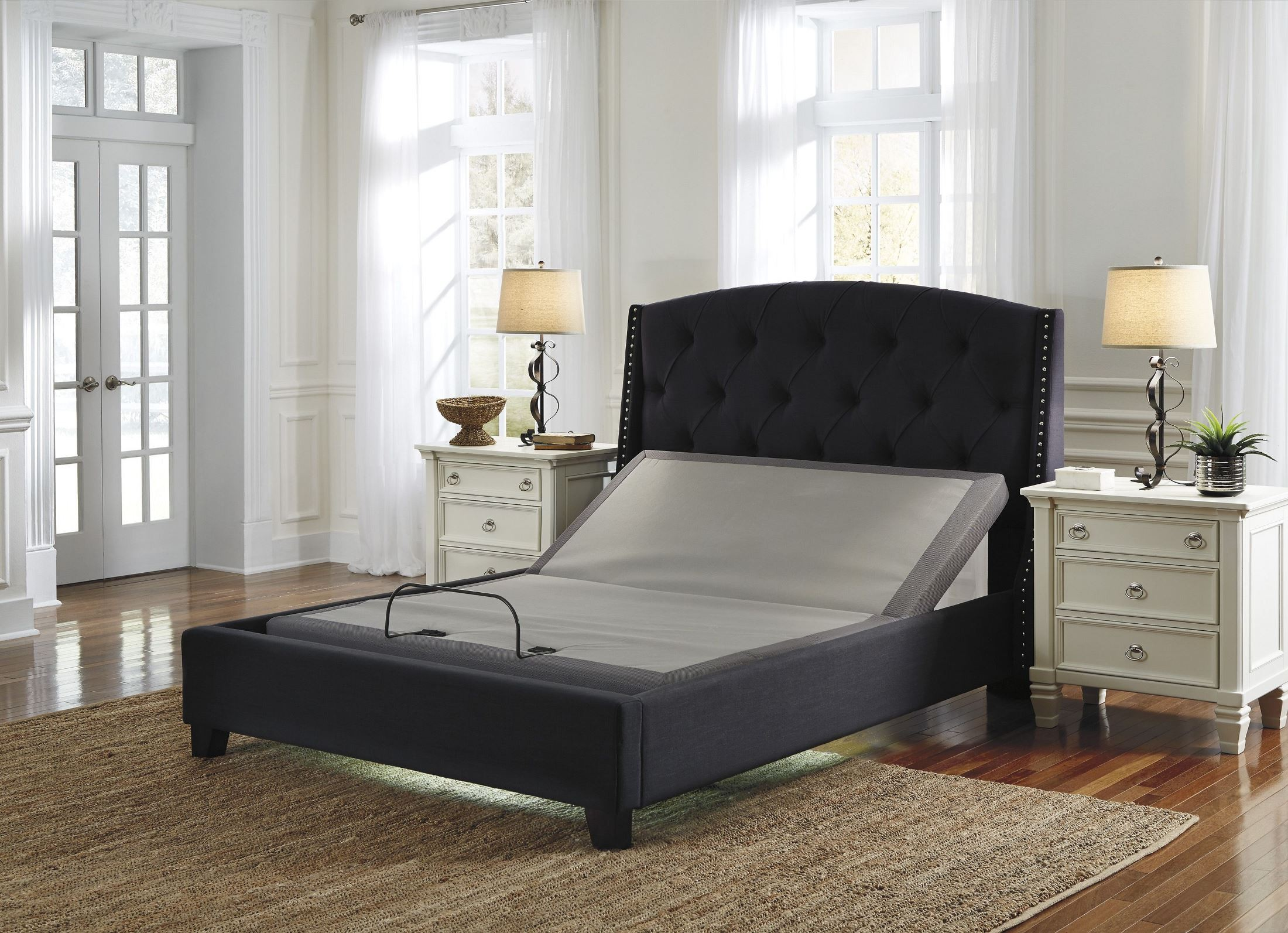 Gray Queen Zero Gravity Adjustable Bed From Ashley