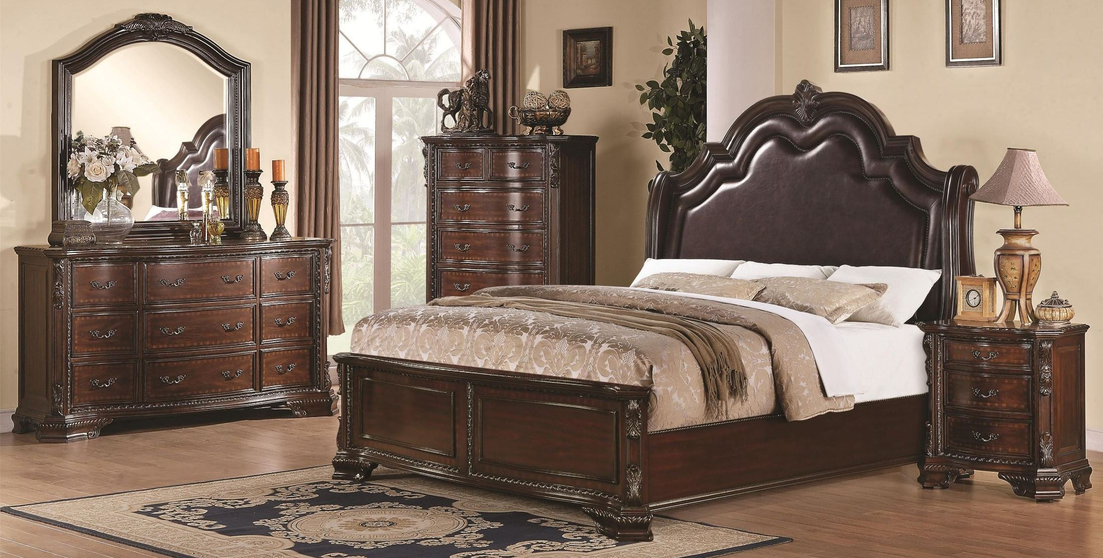 Maddison panel bedroom set from coaster 202261 coleman for B m bedroom furniture