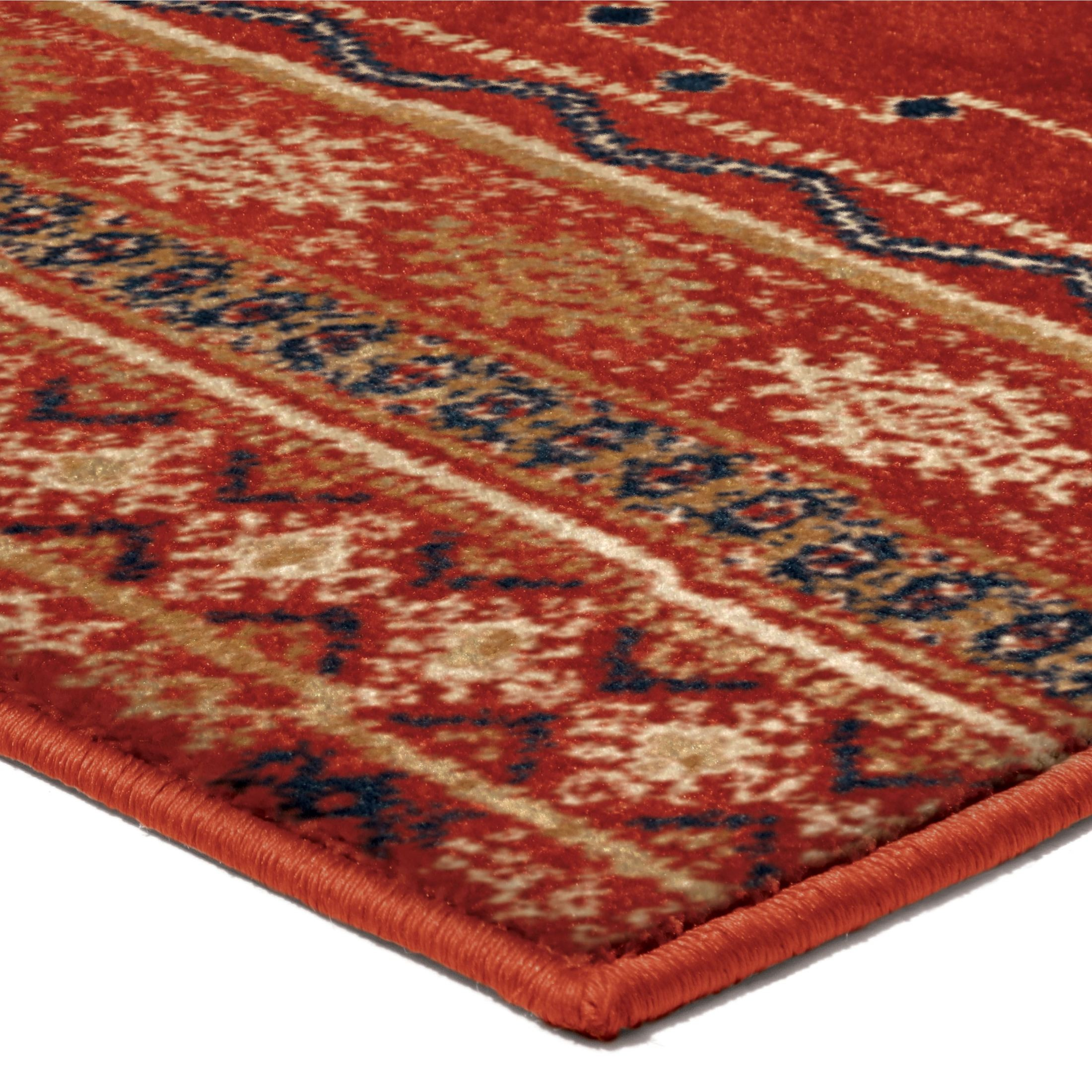 Orian Rugs Bright Color Medallion Zemmour Red Area Small