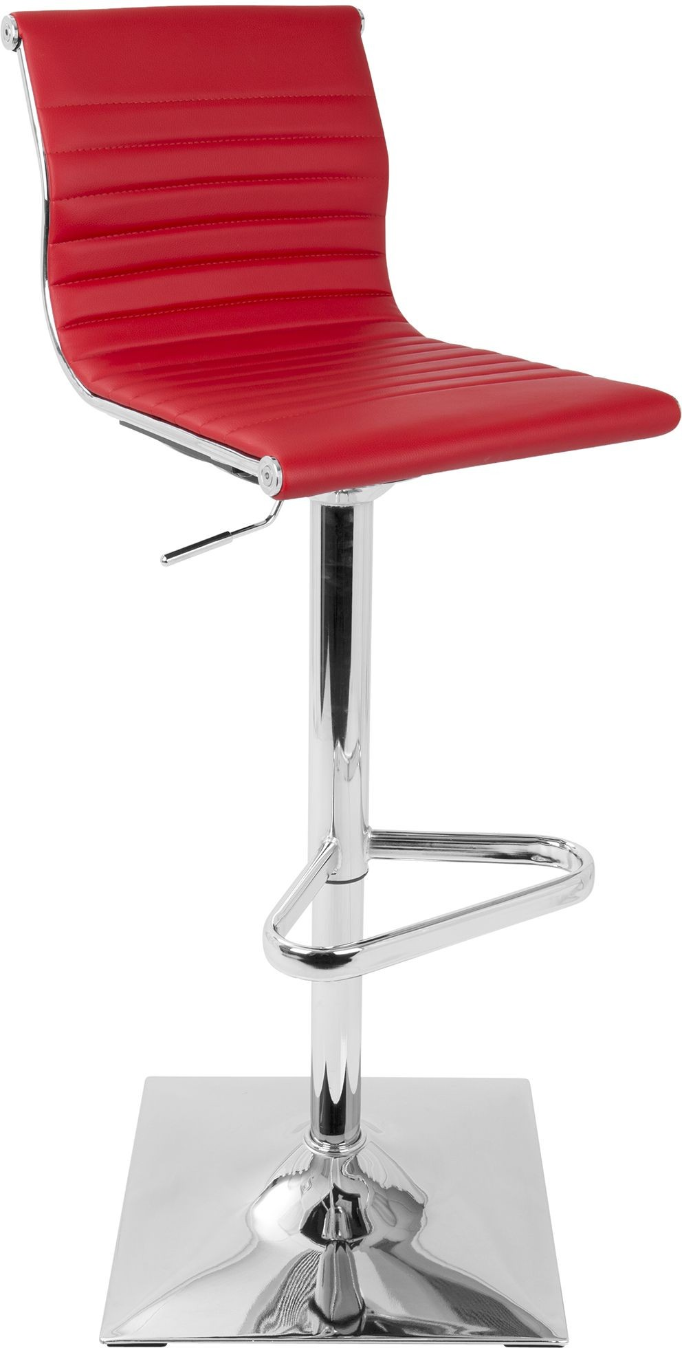 Master Red Adjustable Barstool From Lumisource Available