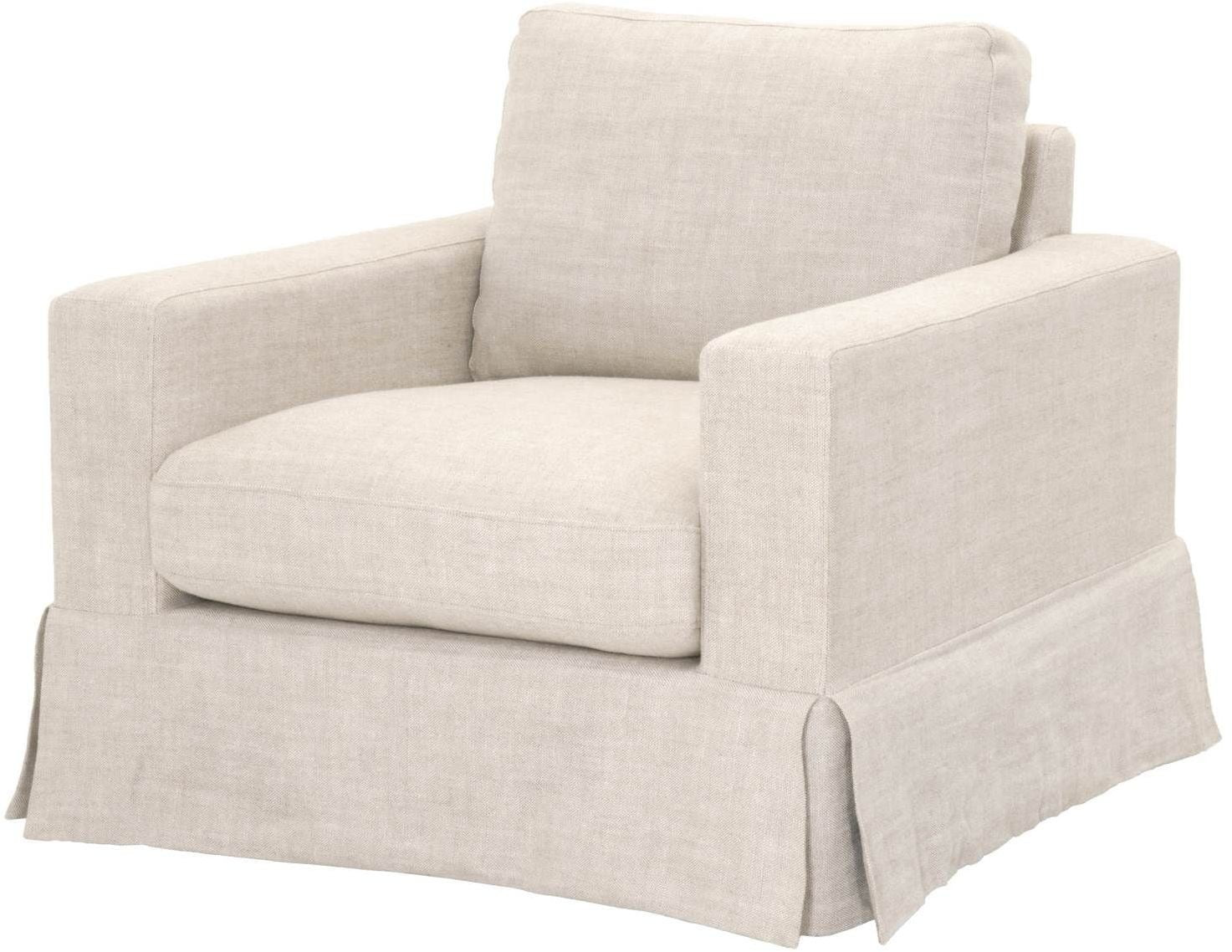 Maxwell Bisque French Linen Sofa Chair