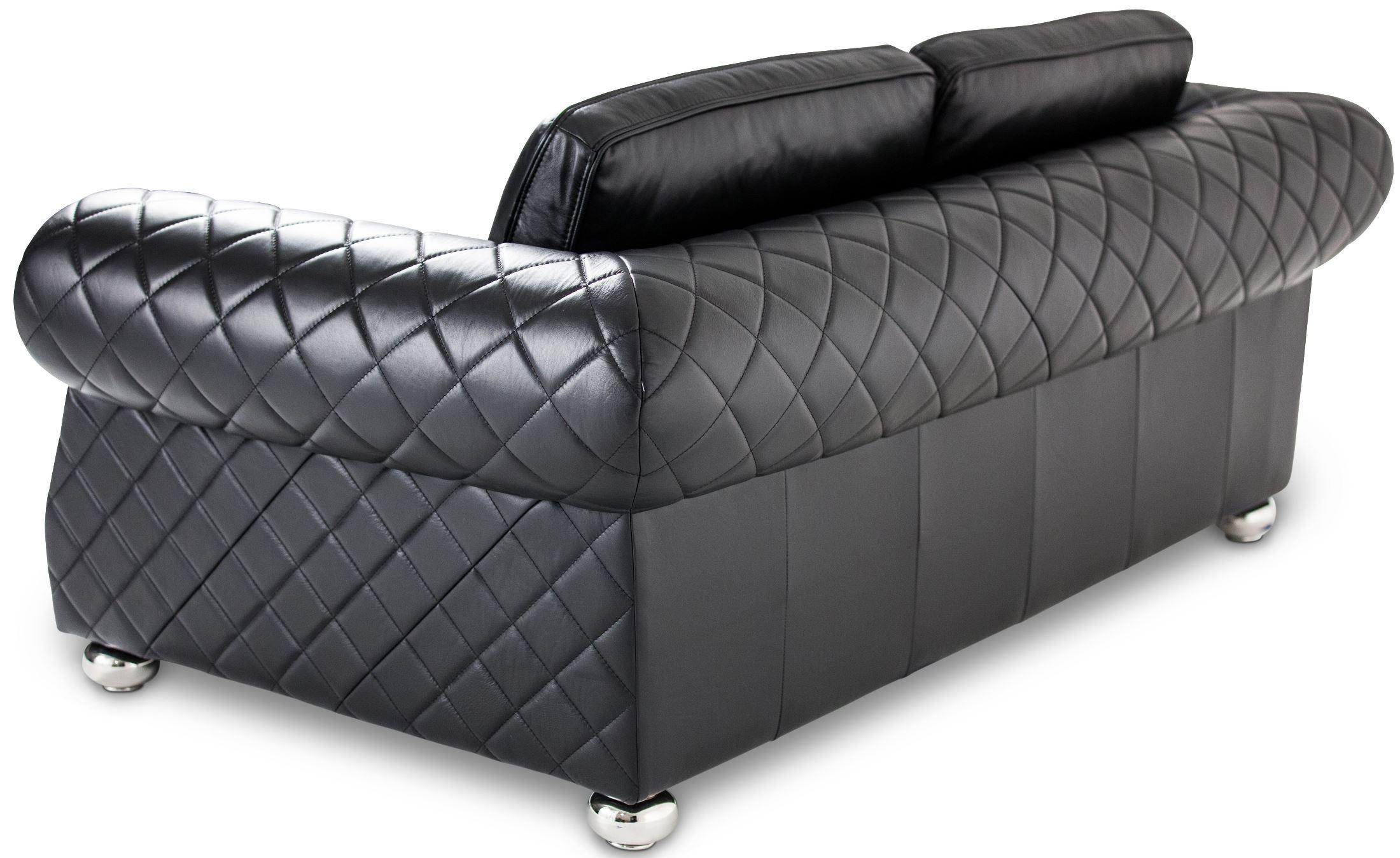 Mia Bella Black Leather Living Room Set Mb Lugan15 Sbl 13
