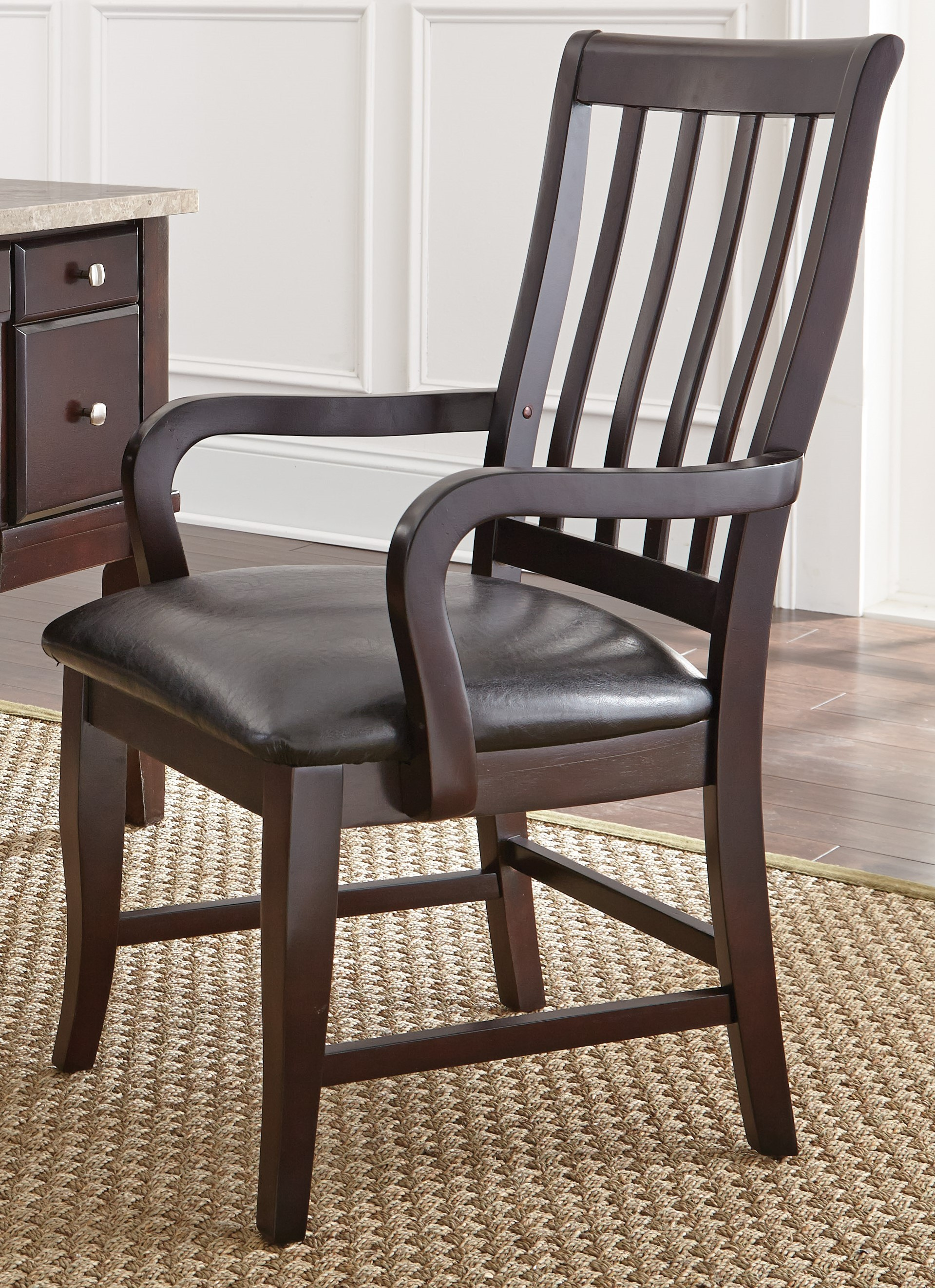 Monarch Black Upholstered Parsons Chair From Steve Silver